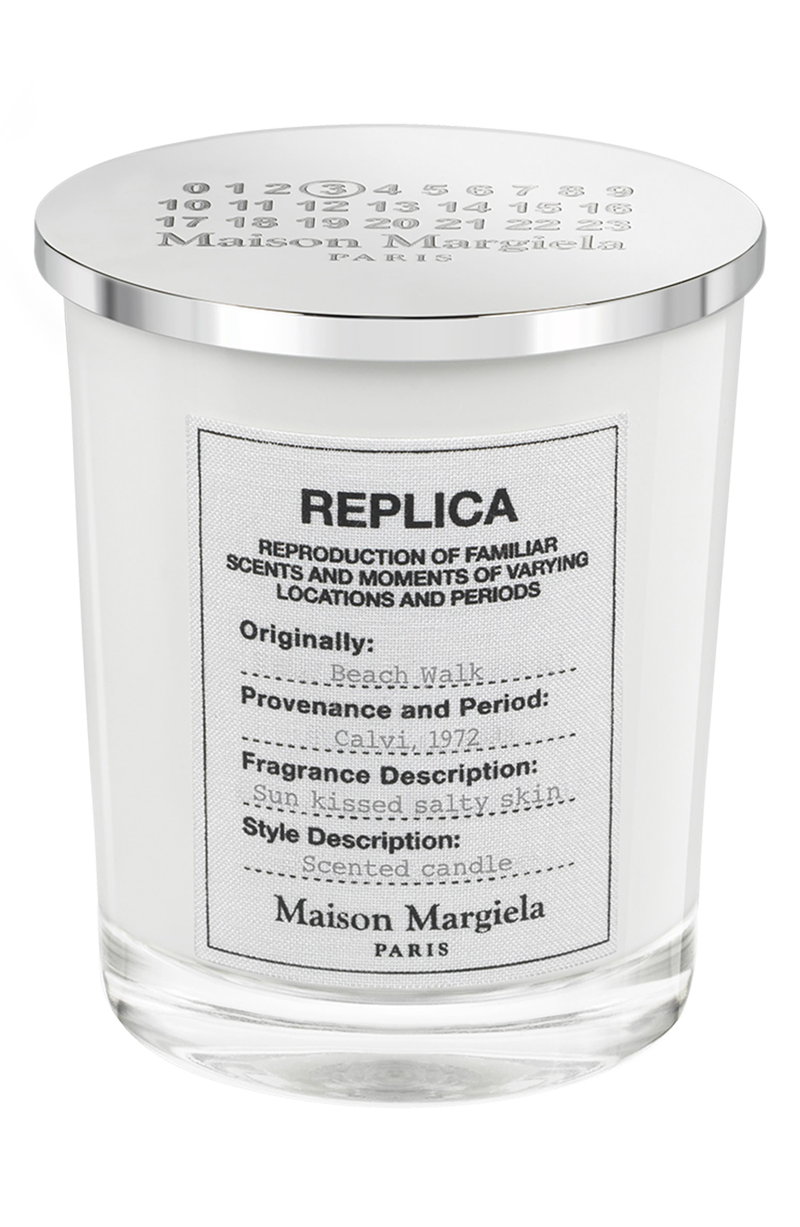 Replica Beach Walk Scented Candle,                             Main thumbnail 1, color,                             000