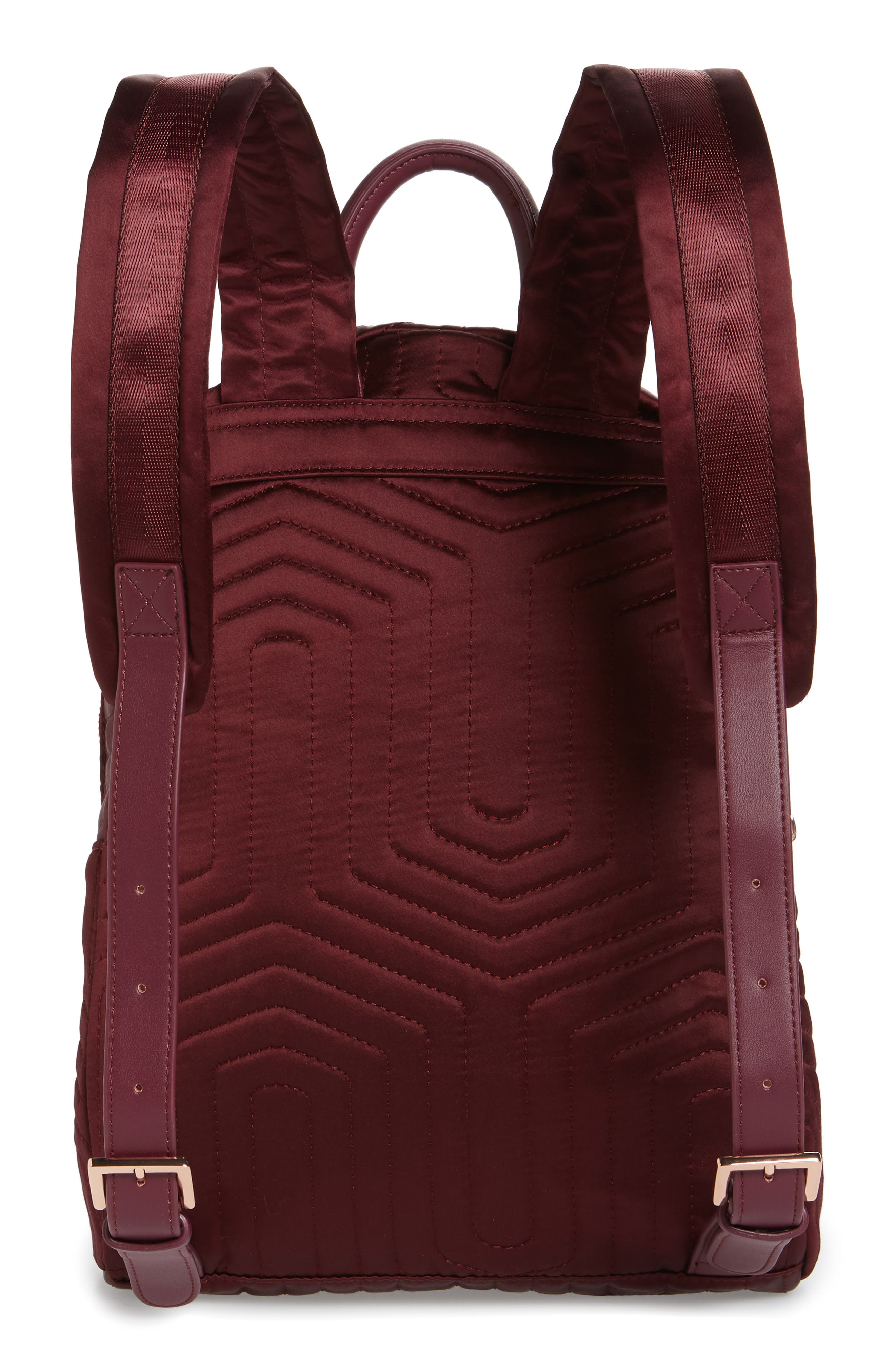 TED BAKER LONDON,                             Quilted Bow Backpack,                             Alternate thumbnail 3, color,                             210