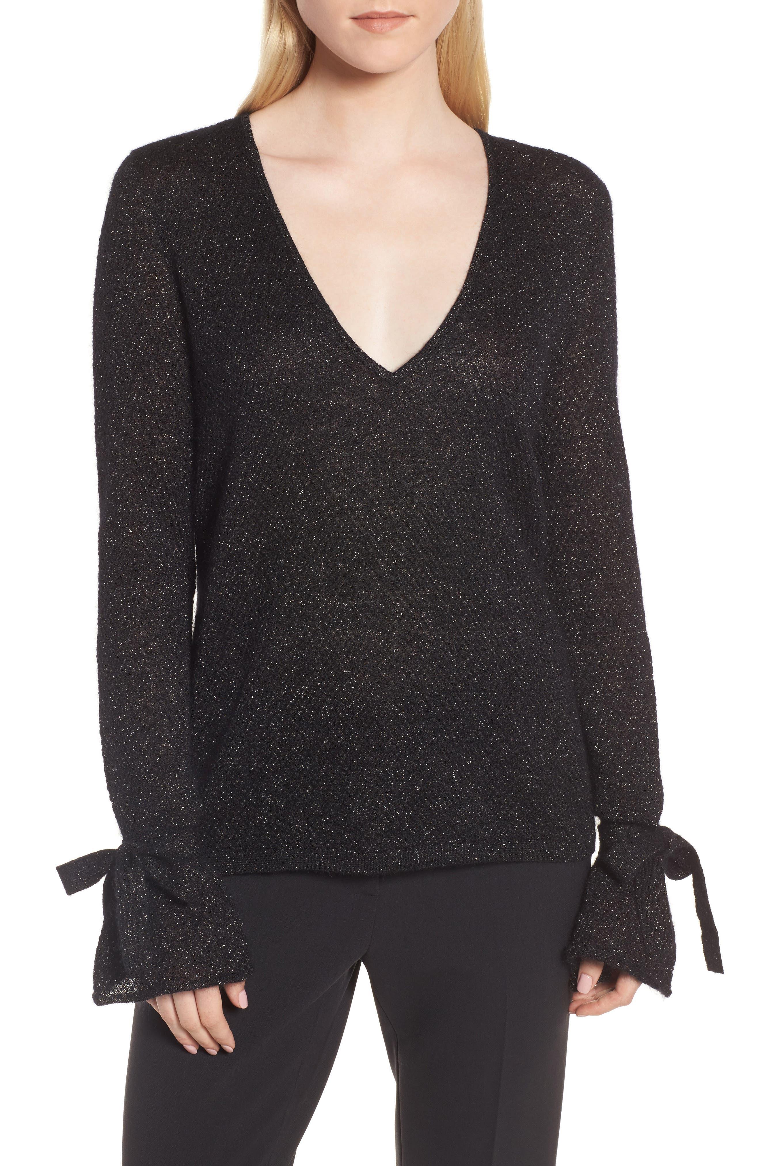 Metallic Mohair Blend Sweater,                             Main thumbnail 2, color,