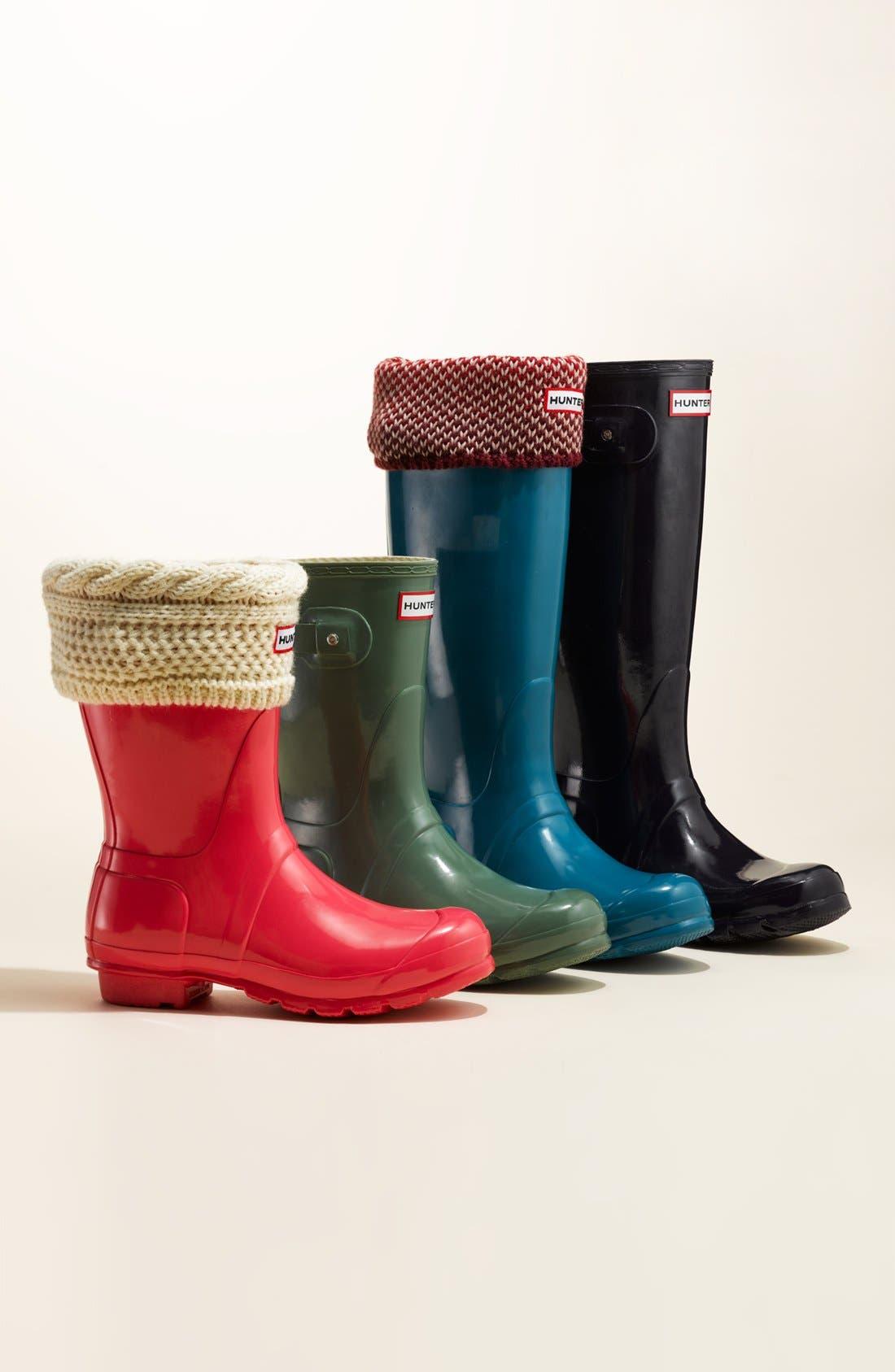 Original Short Gloss Rain Boot,                         Main,                         color, HYPER PINK