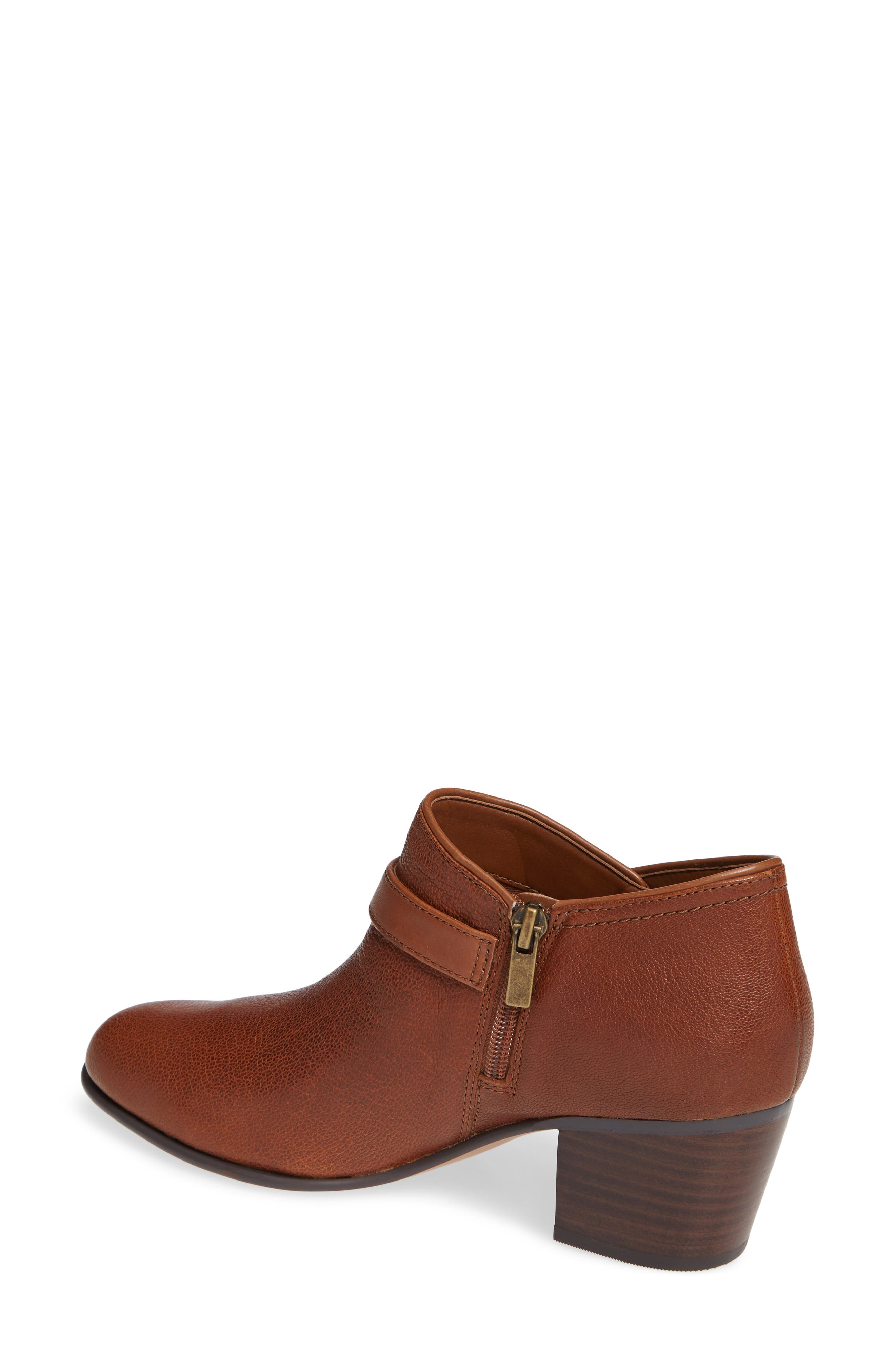Maypearl Milla Bootie,                             Alternate thumbnail 2, color,                             DARK TAN TUMBLED LEATHER