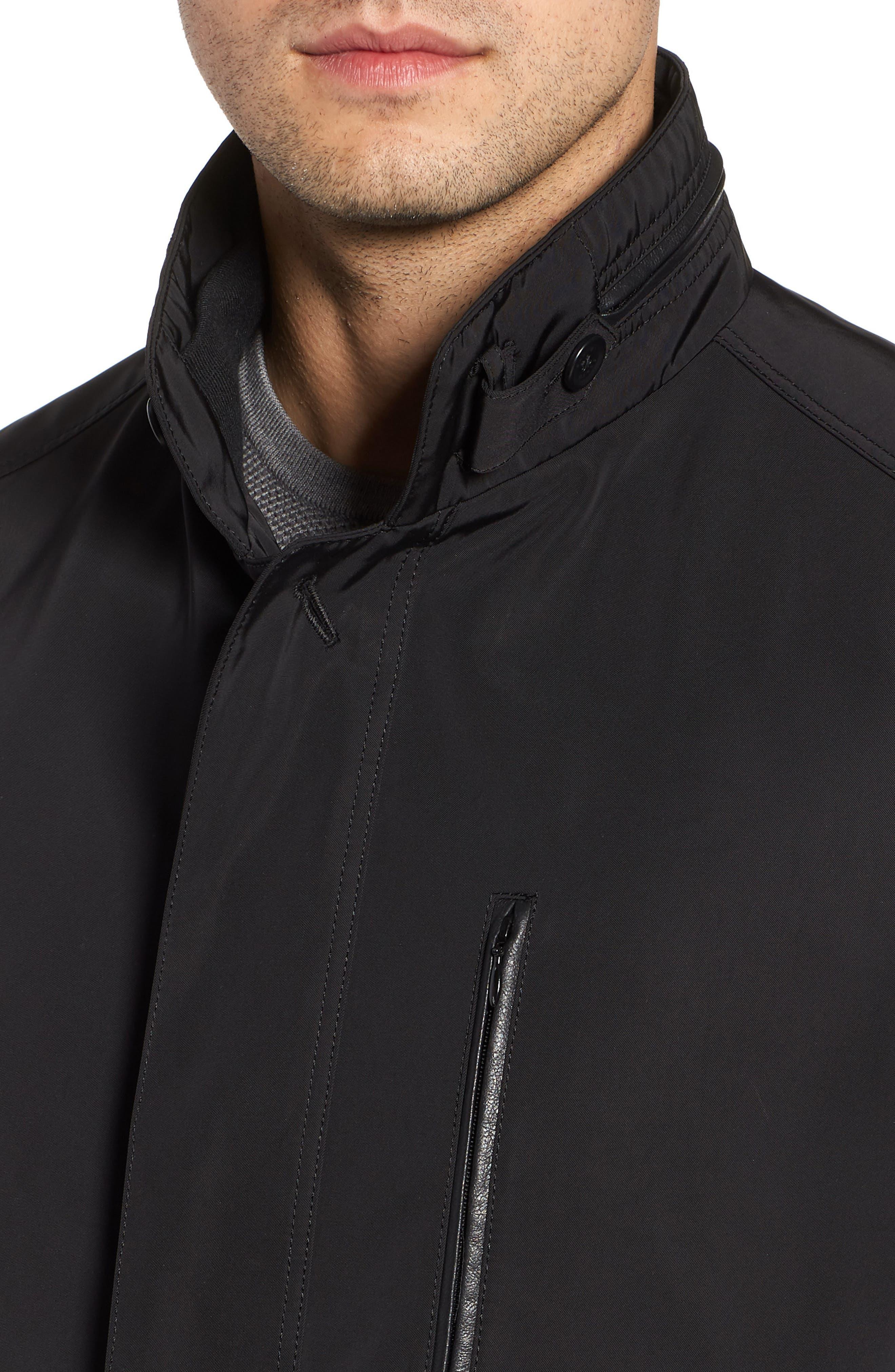 Hardy Getaway Raincoat,                             Alternate thumbnail 4, color,                             BLACK