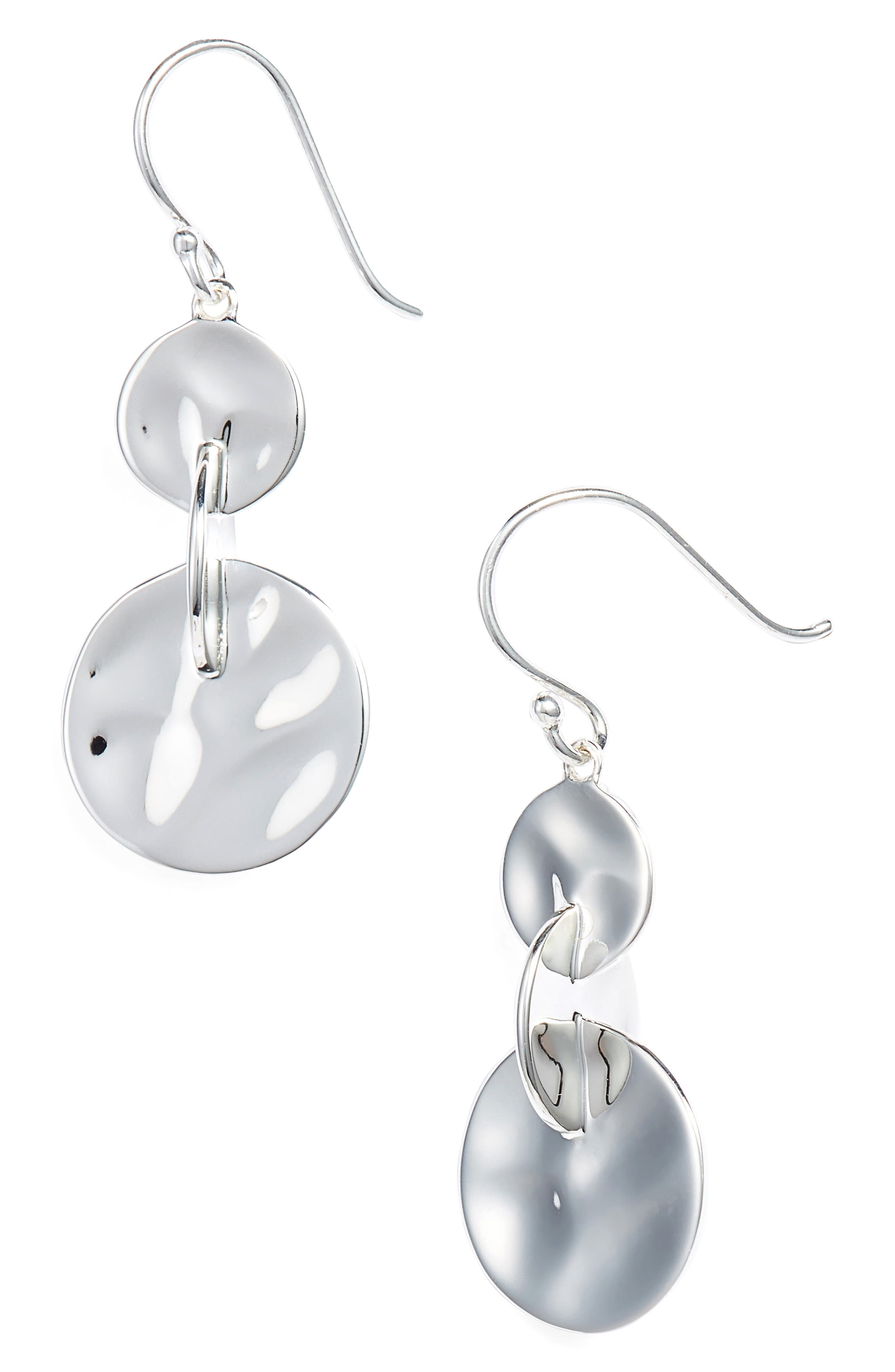 Senso Connected Sterling Drop Earrings,                             Main thumbnail 1, color,                             SILVER