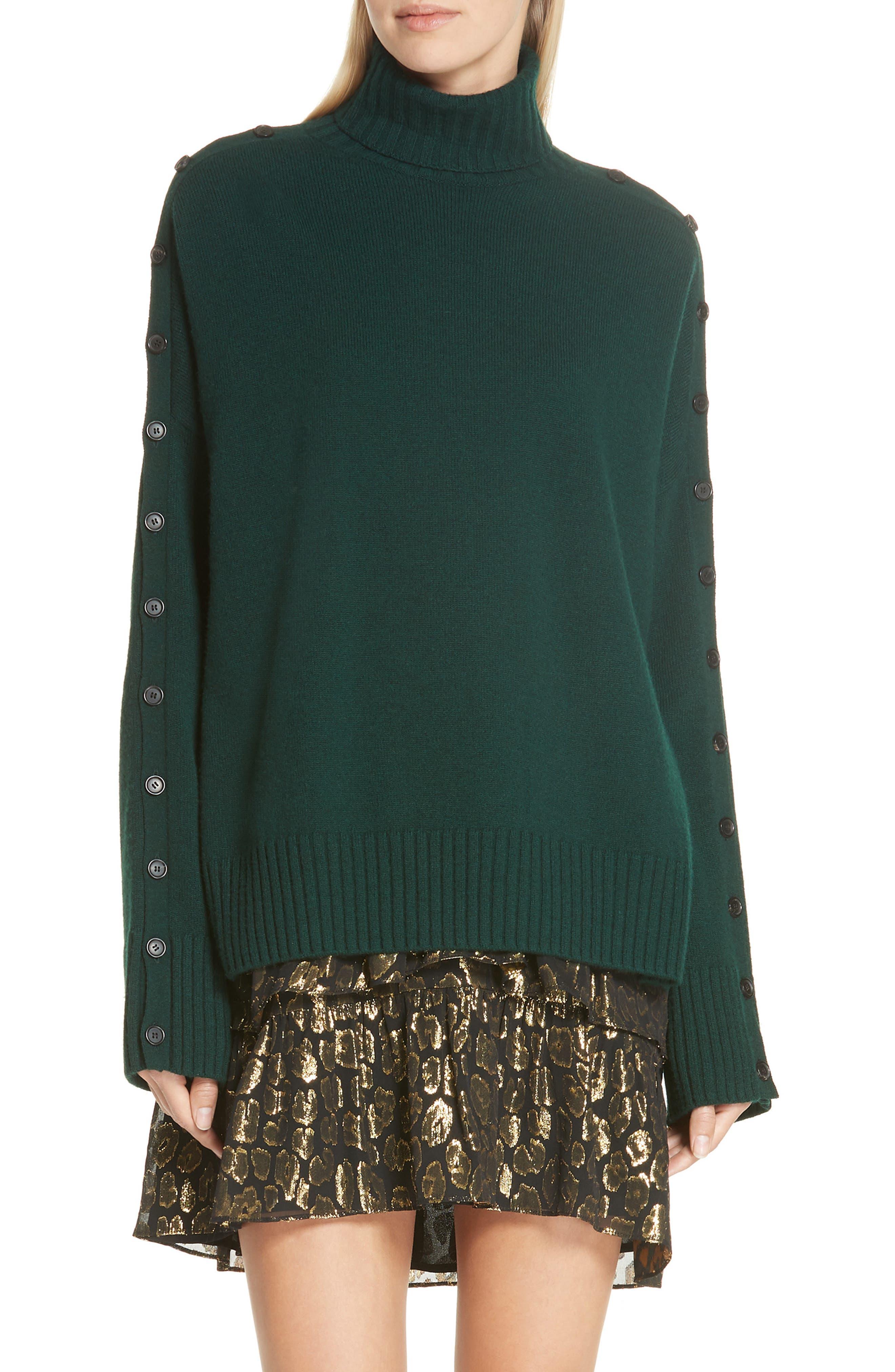 A.l.c. Crosley Merino Wool Turtleneck Sweater, Green