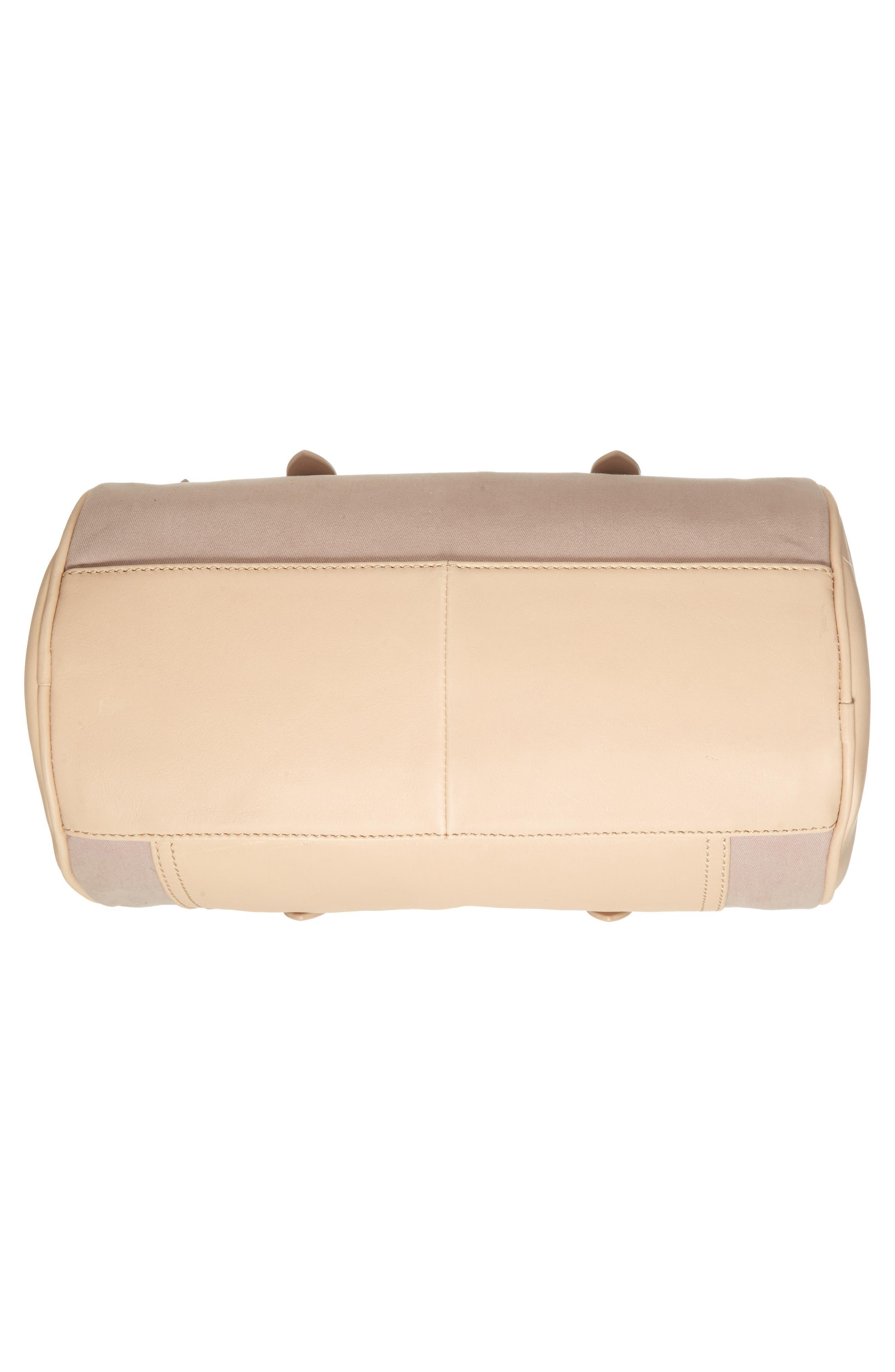 Mini Carml Leather & Canvas Barrel Bag,                             Alternate thumbnail 6, color,                             050