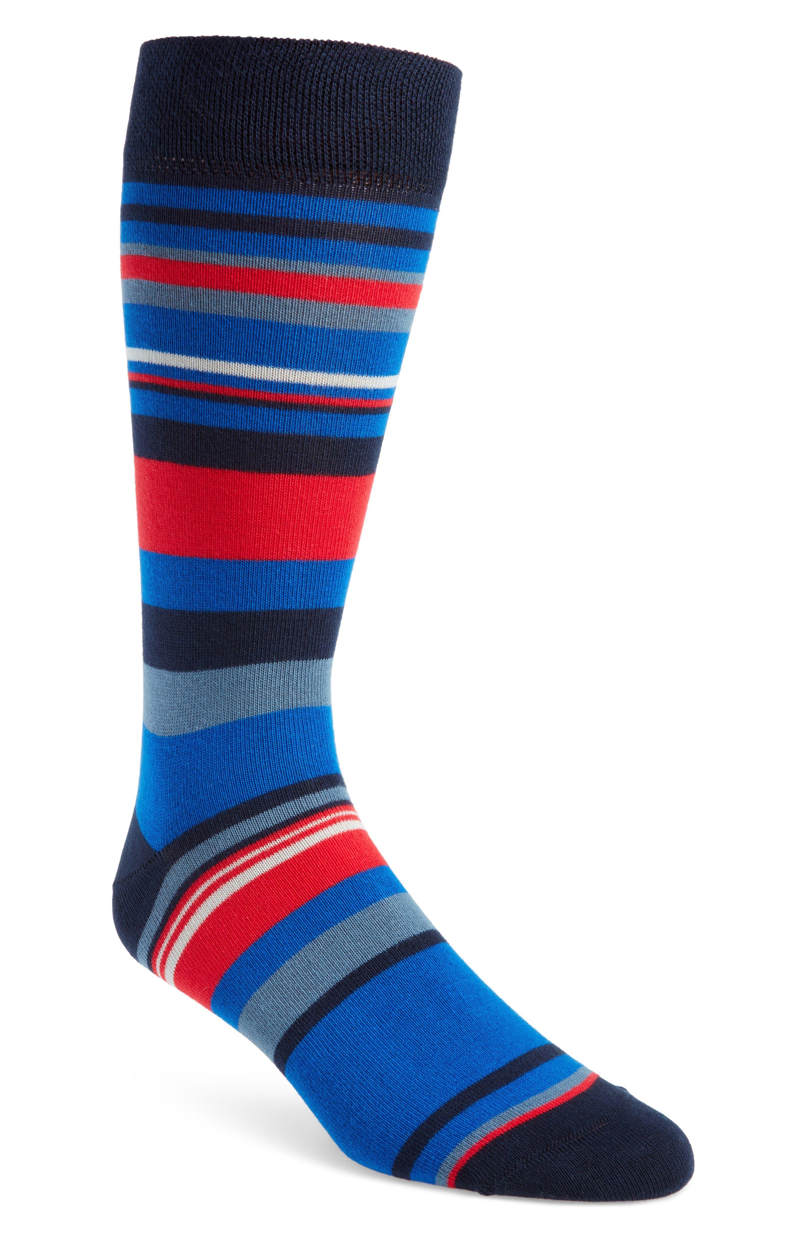 Harisli Stripe Socks,                             Main thumbnail 1, color,                             NAVY