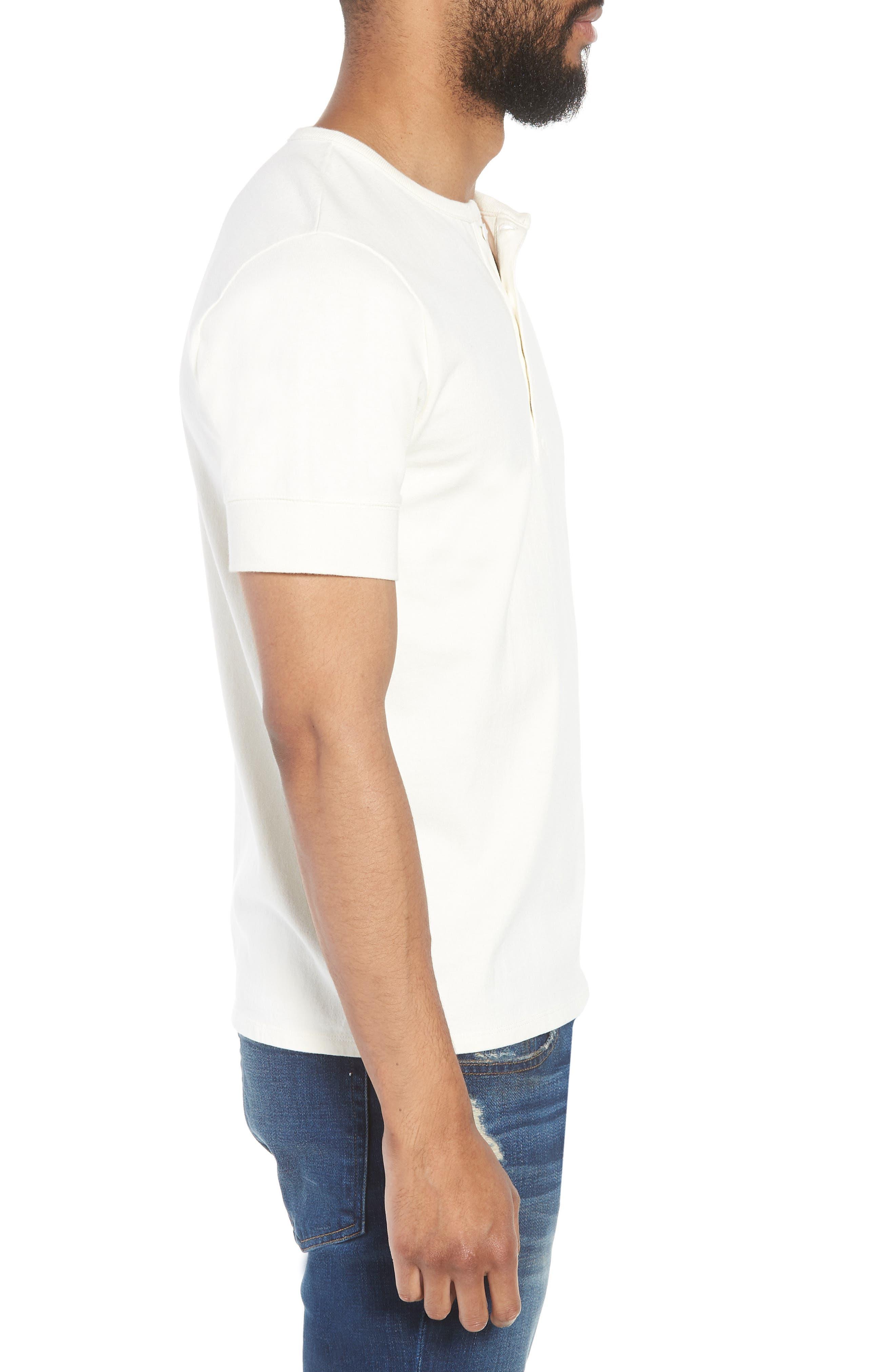 Slim Fit Henley T-Shirt,                             Alternate thumbnail 3, color,                             OFF WHITE