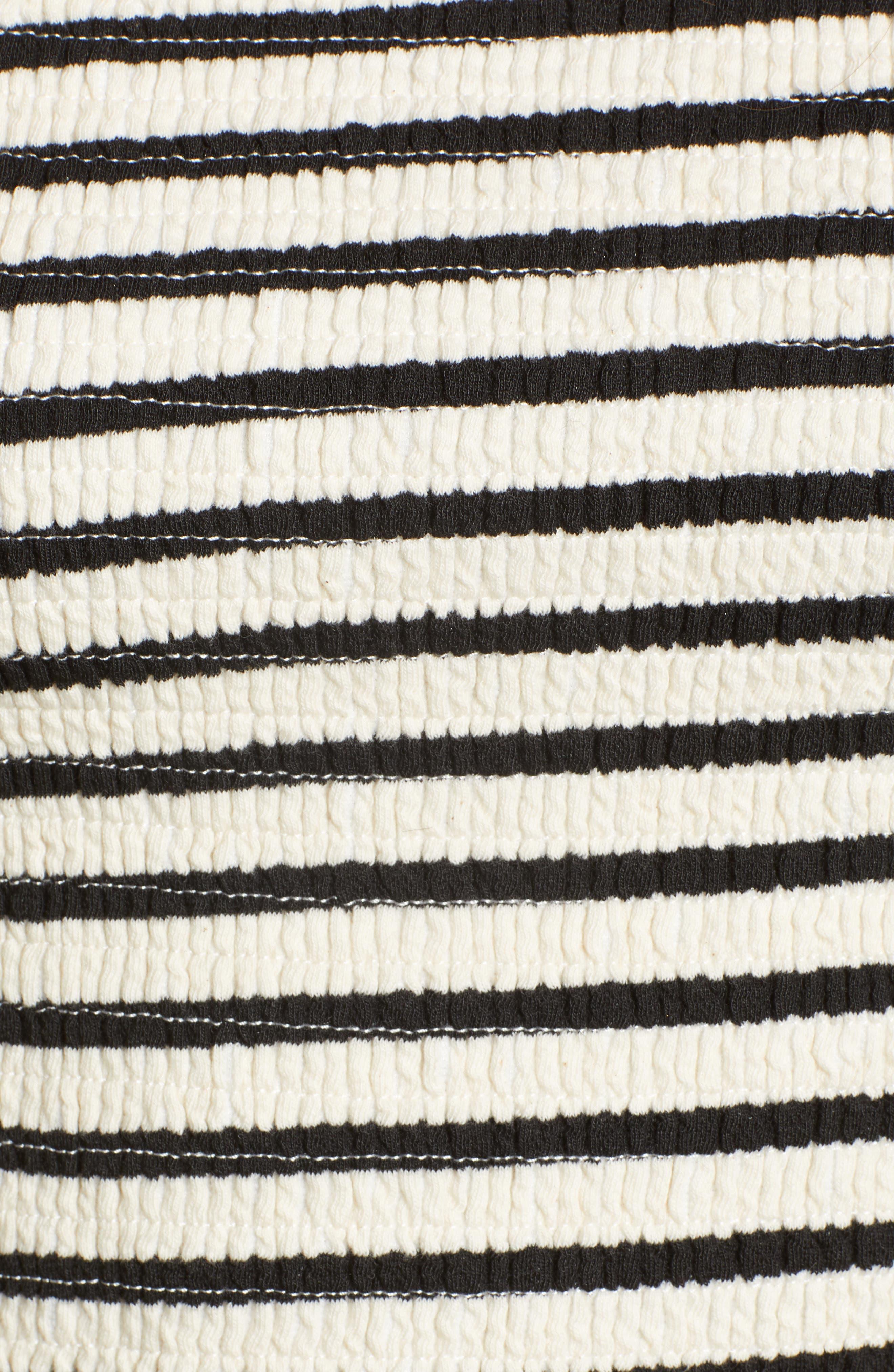 Bishop + Young Stripe Off the Shoulder Top,                             Alternate thumbnail 6, color,                             BLACK STRIPE