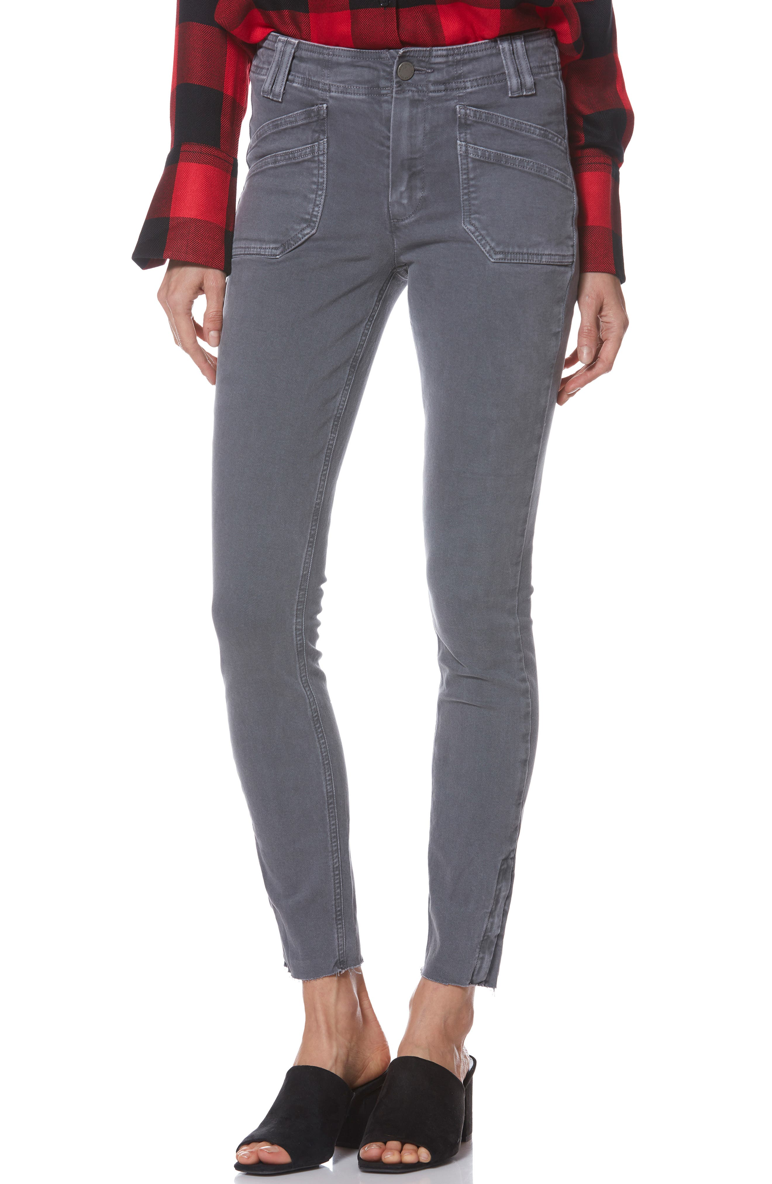 Hoxton Utilitarian High Waist Ankle Skinny Jeans,                             Main thumbnail 1, color,                             VINTAGE TORNADO