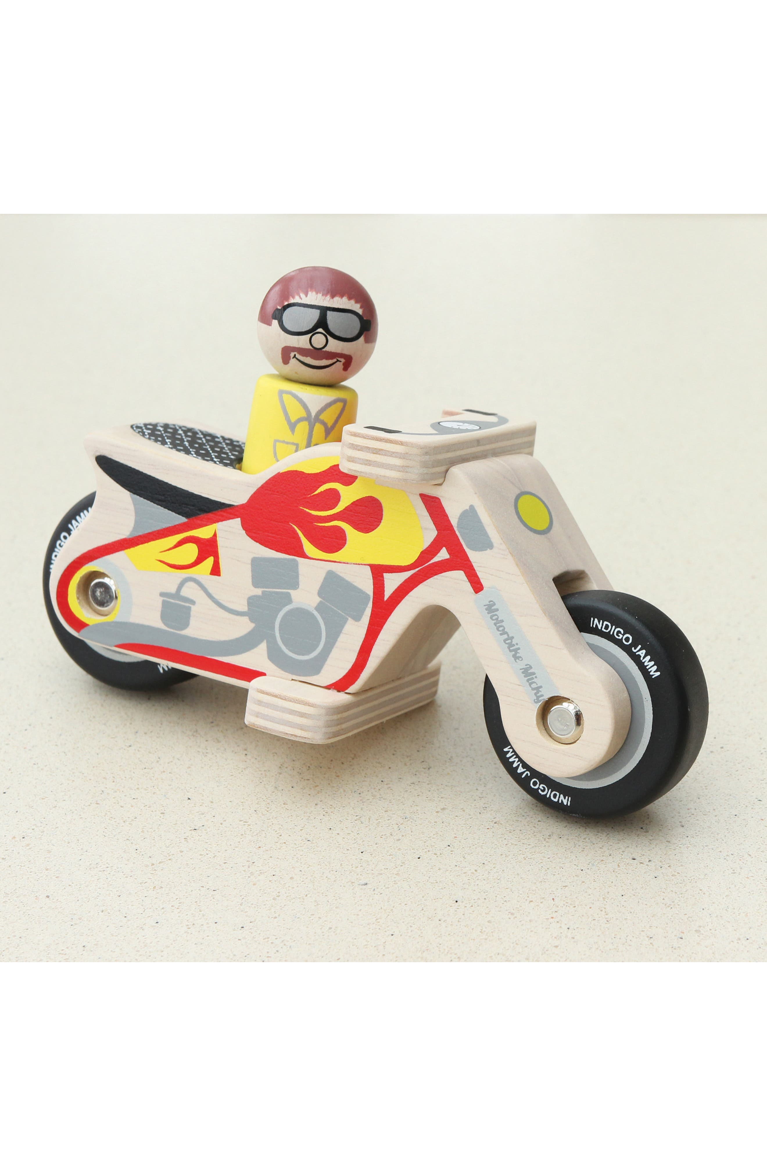 Motorbike Micky Wooden Toy,                             Alternate thumbnail 4, color,