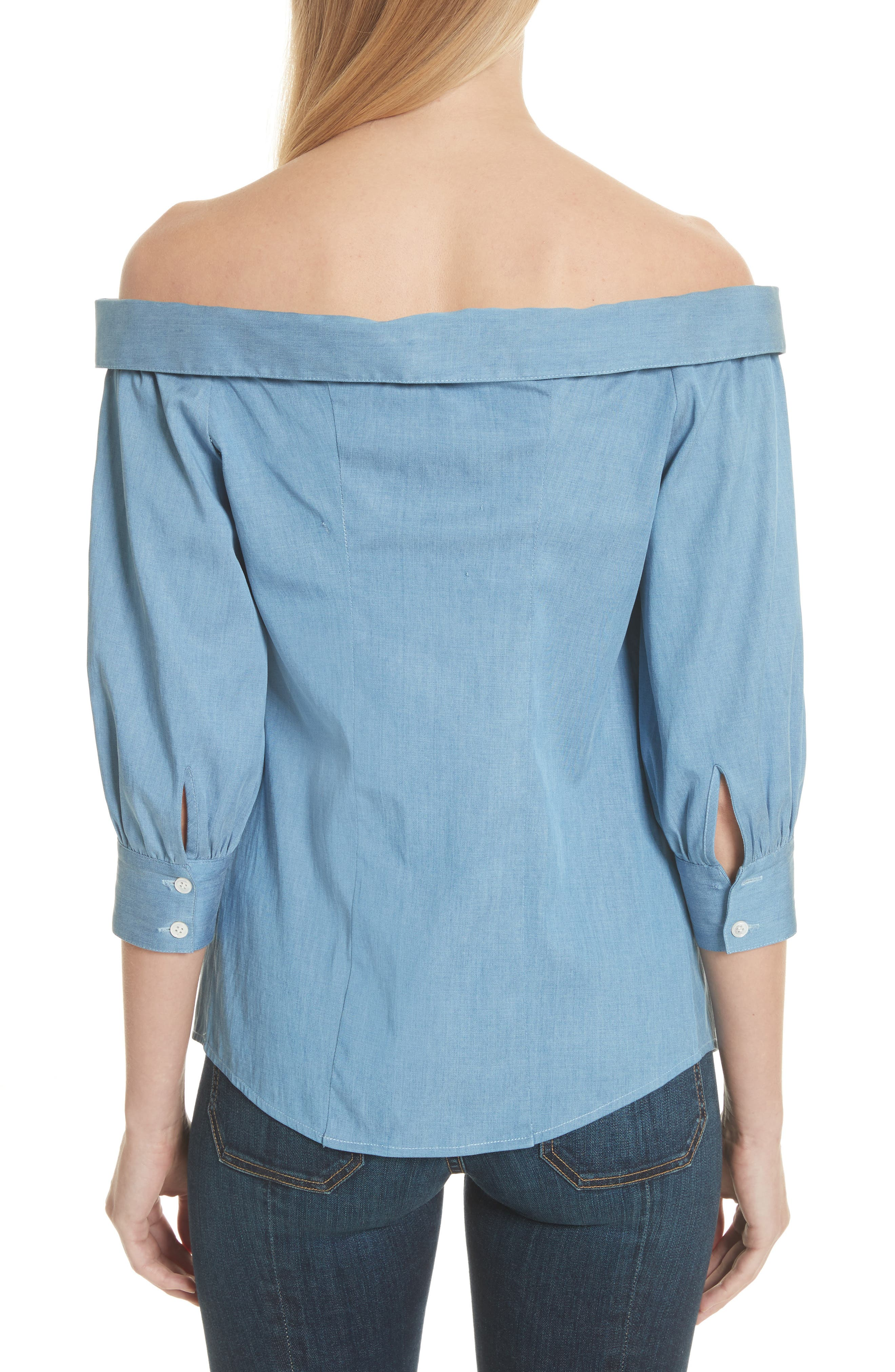 Britta Off the Shoulder Top,                             Alternate thumbnail 2, color,                             423