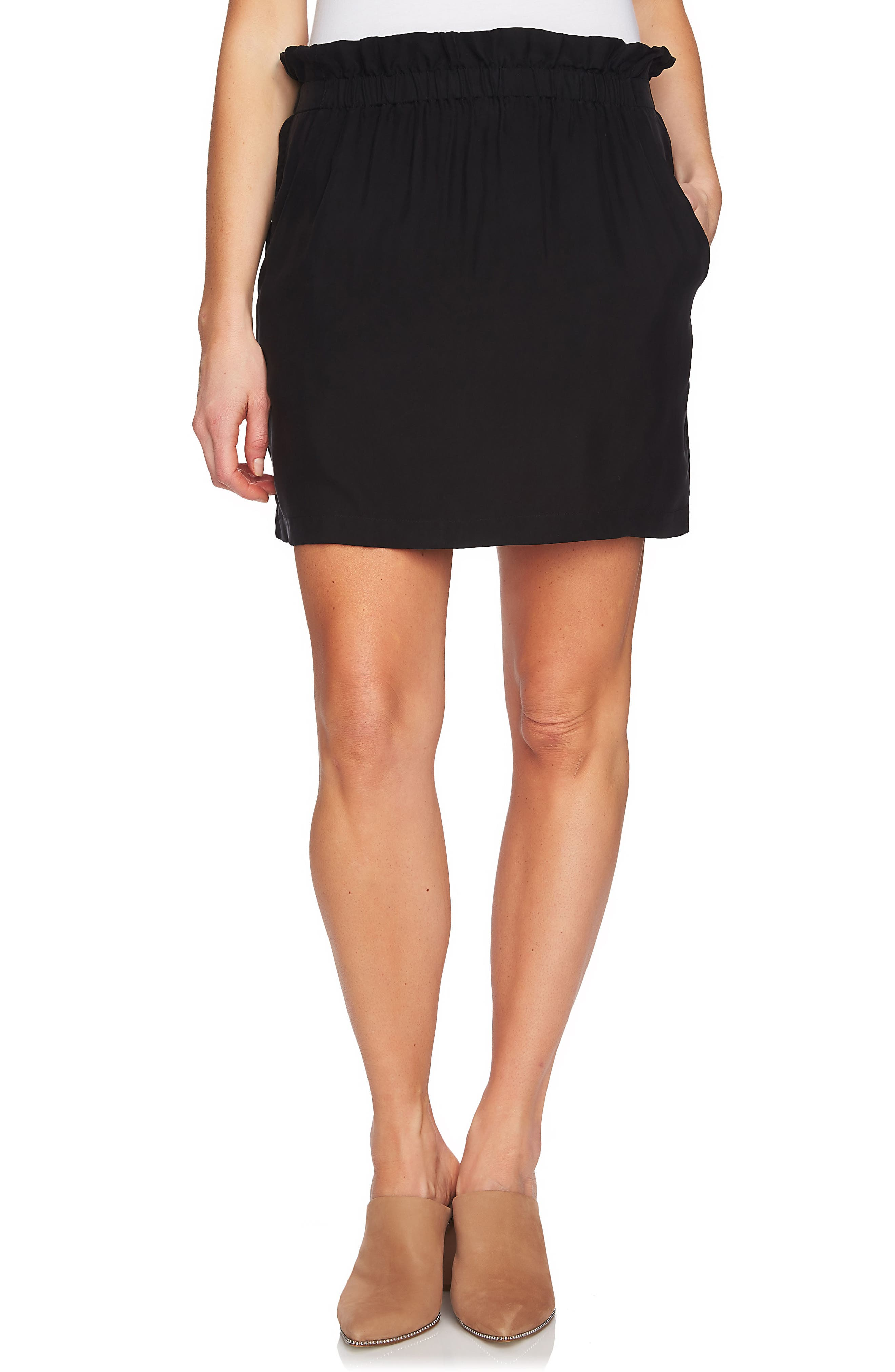 Paperbag Miniskirt,                             Main thumbnail 1, color,                             006