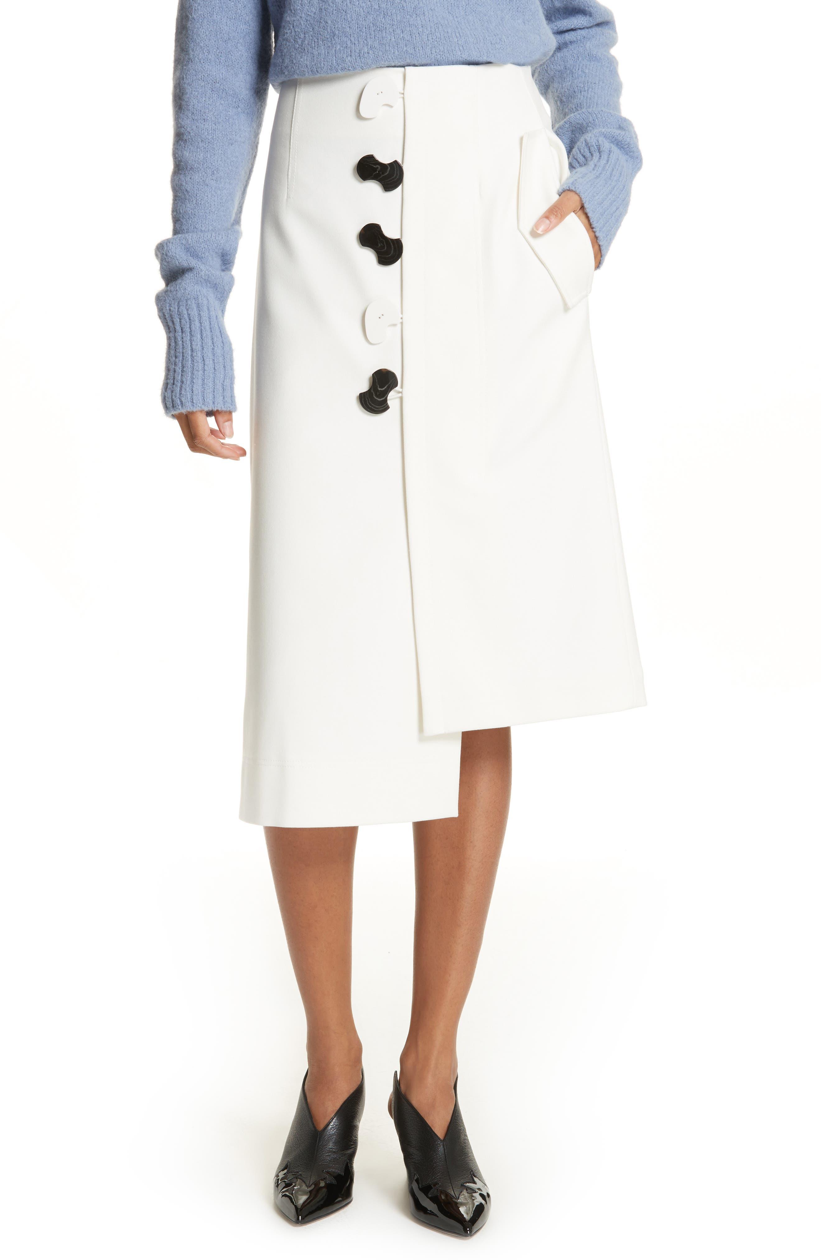 Mora Asymmetrical Faux Wrap Skirt,                             Main thumbnail 1, color,                             903