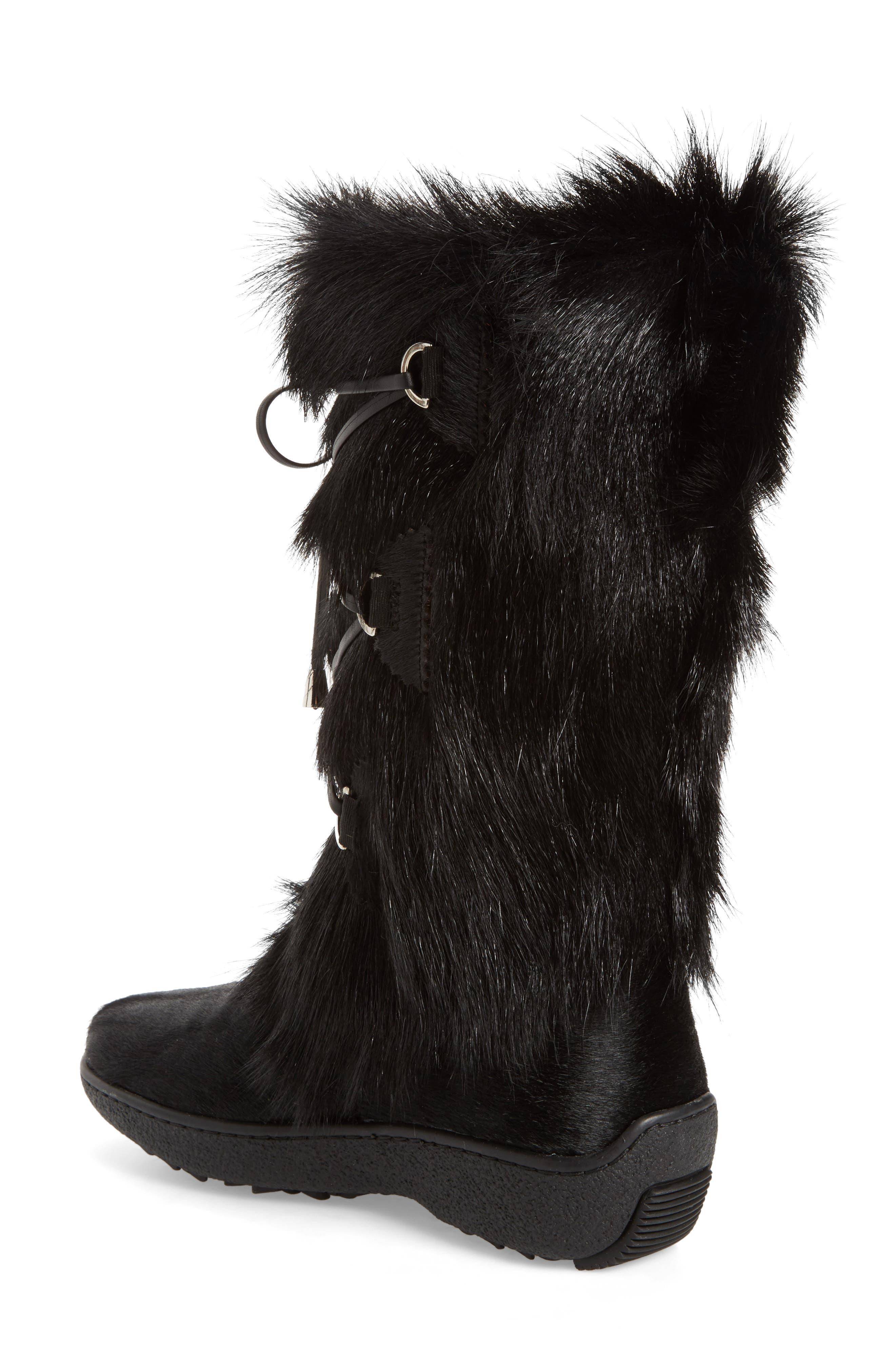 Davos Genuine Goat Fur Boot,                             Alternate thumbnail 2, color,                             001
