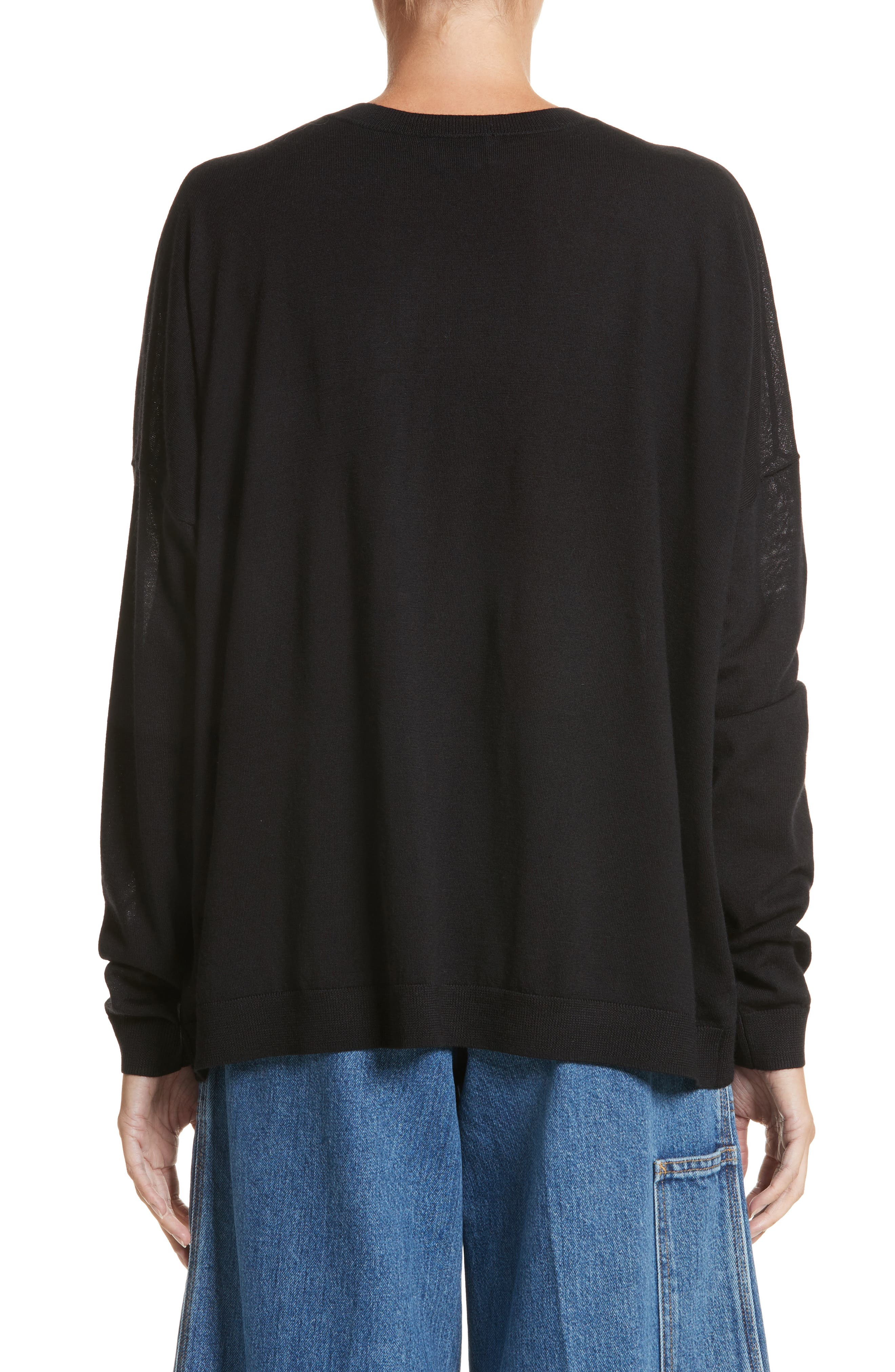 Karel Oversize Merino Sweater,                             Alternate thumbnail 2, color,                             001