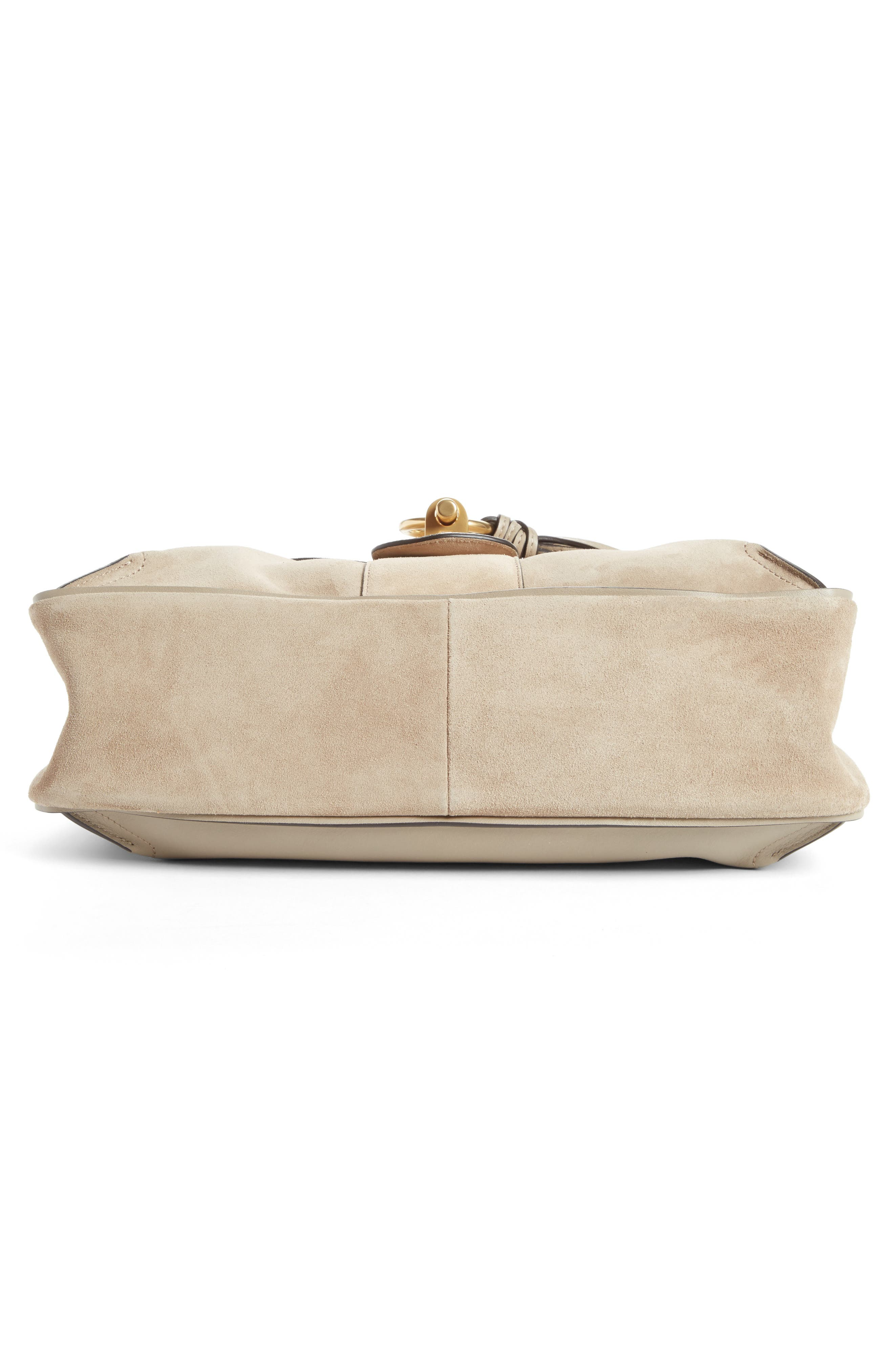 Medium Lexa Leather Shoulder Bag,                             Alternate thumbnail 4, color,                             031