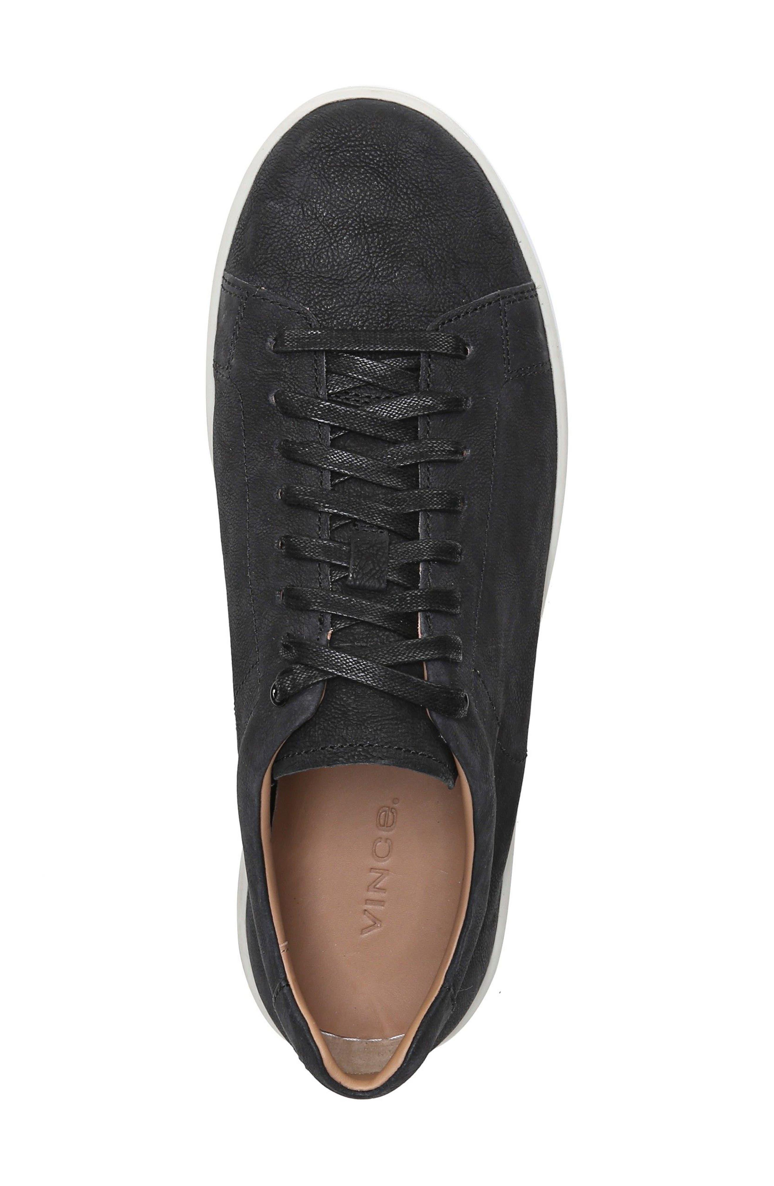 Slater Sneaker,                             Alternate thumbnail 5, color,                             BLACK NUBUCK