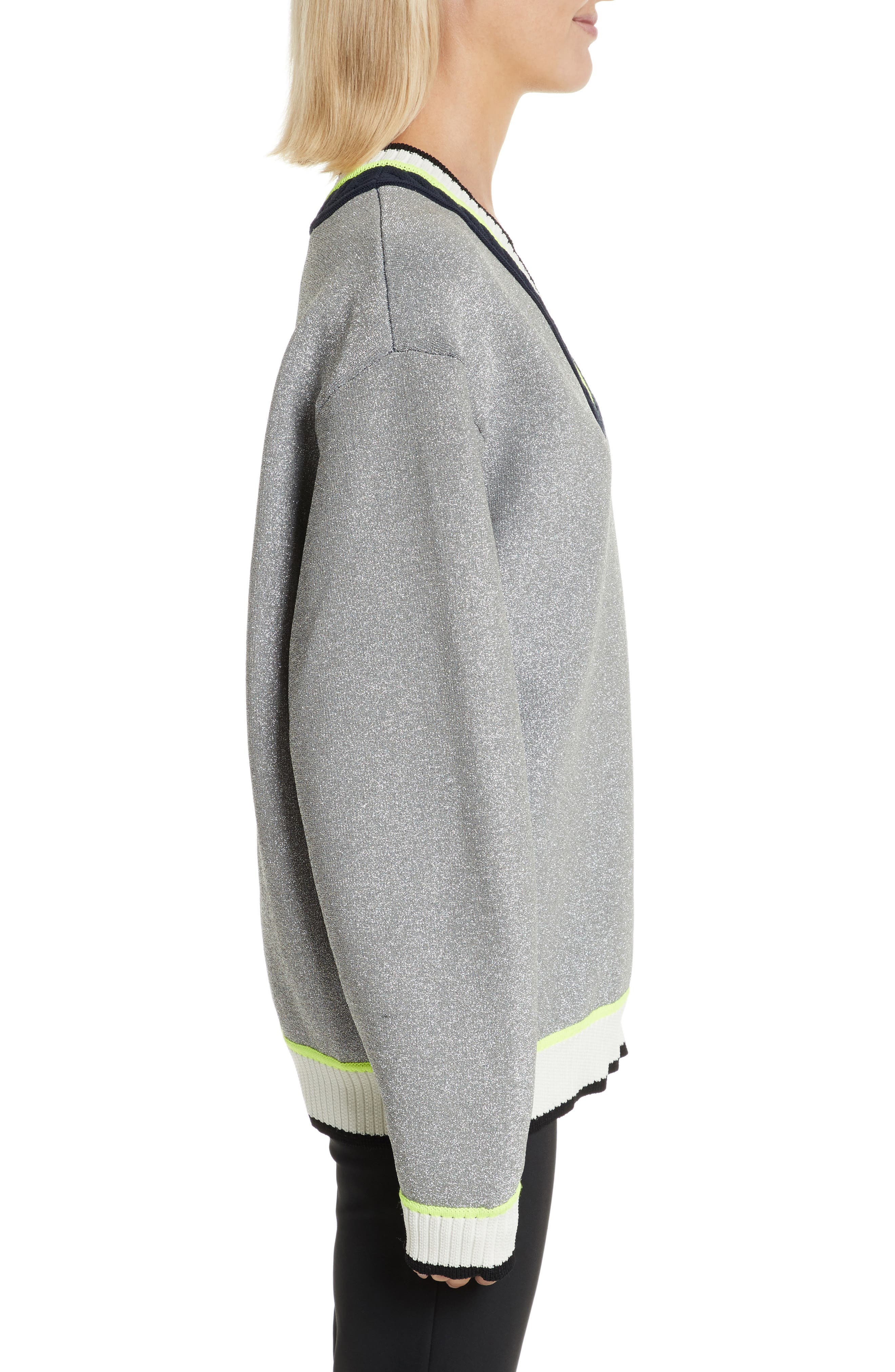 Sport Cable Neck Sweater,                             Alternate thumbnail 3, color,