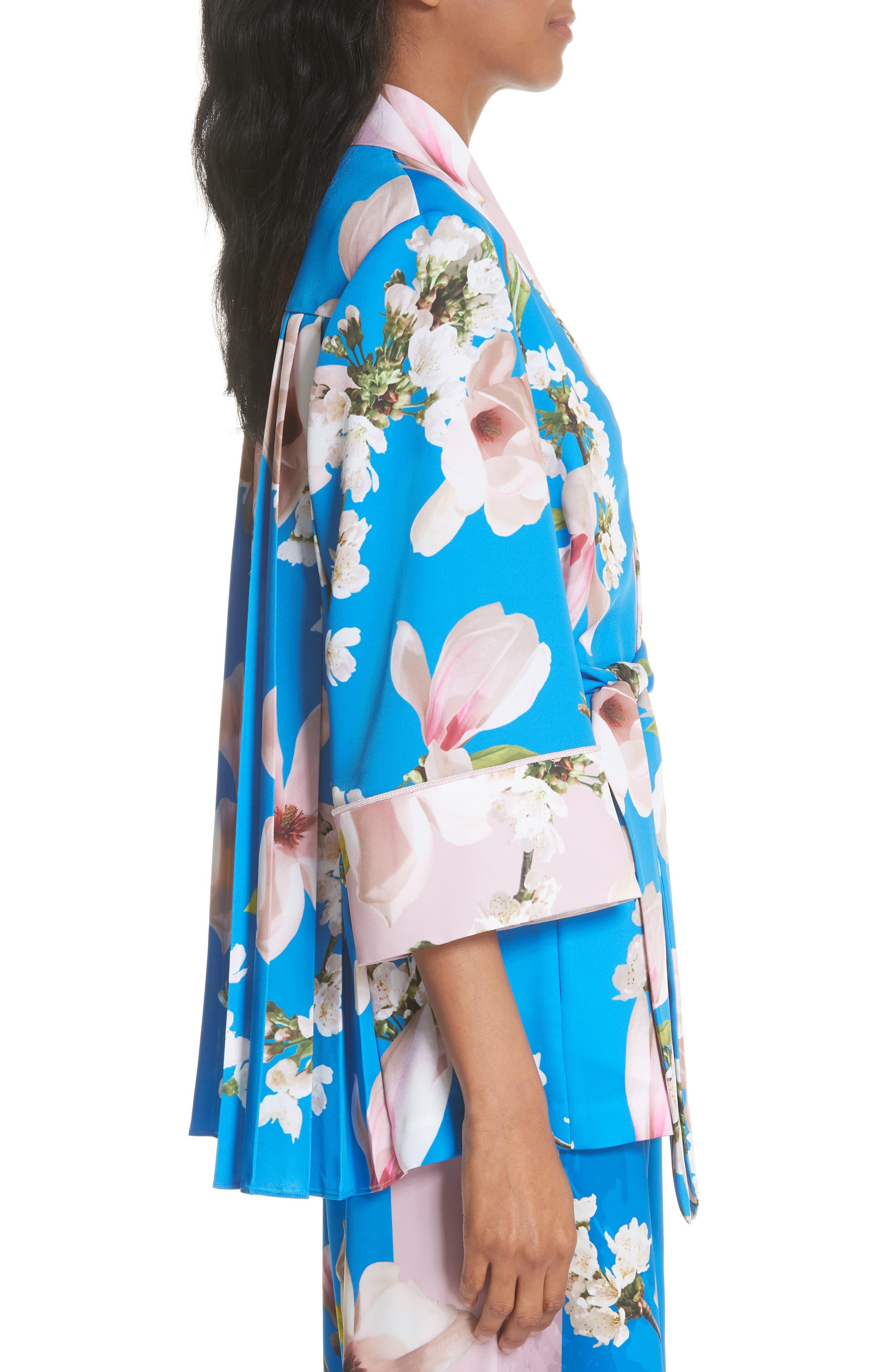 Harmony Pleat Back Kimono Jacket,                             Alternate thumbnail 3, color,