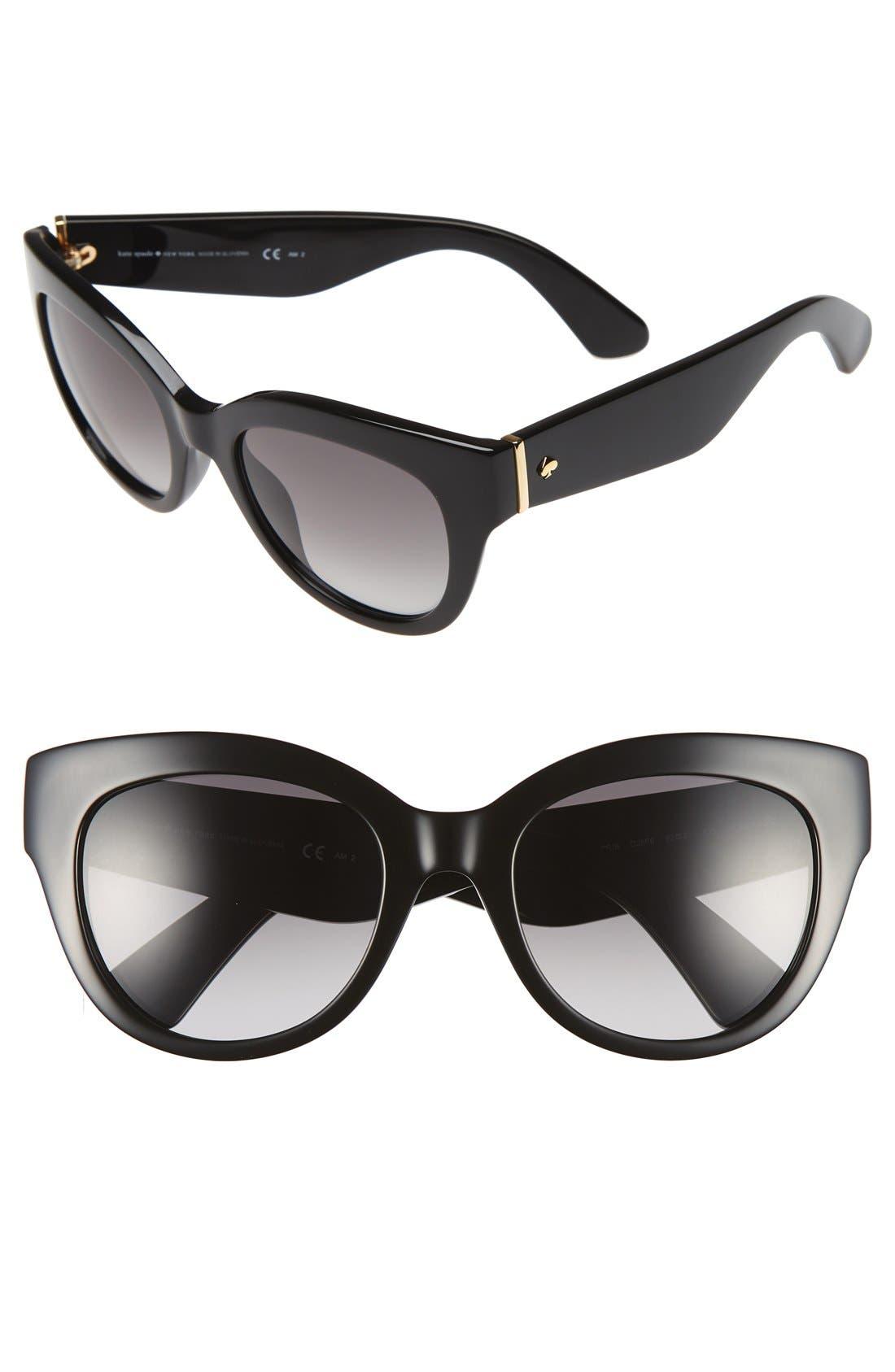 'sharlots' 52mm sunglasses,                             Main thumbnail 1, color,                             001