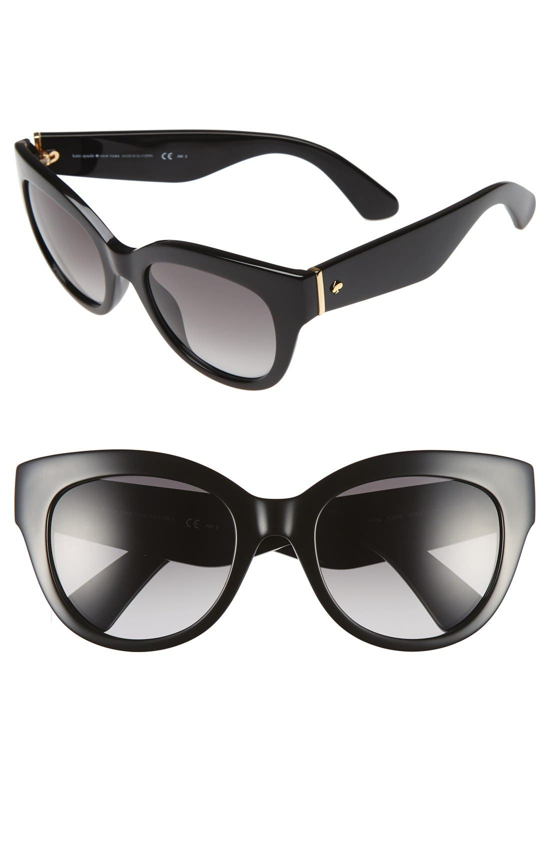 'sharlots' 52mm sunglasses,                         Main,                         color, 001