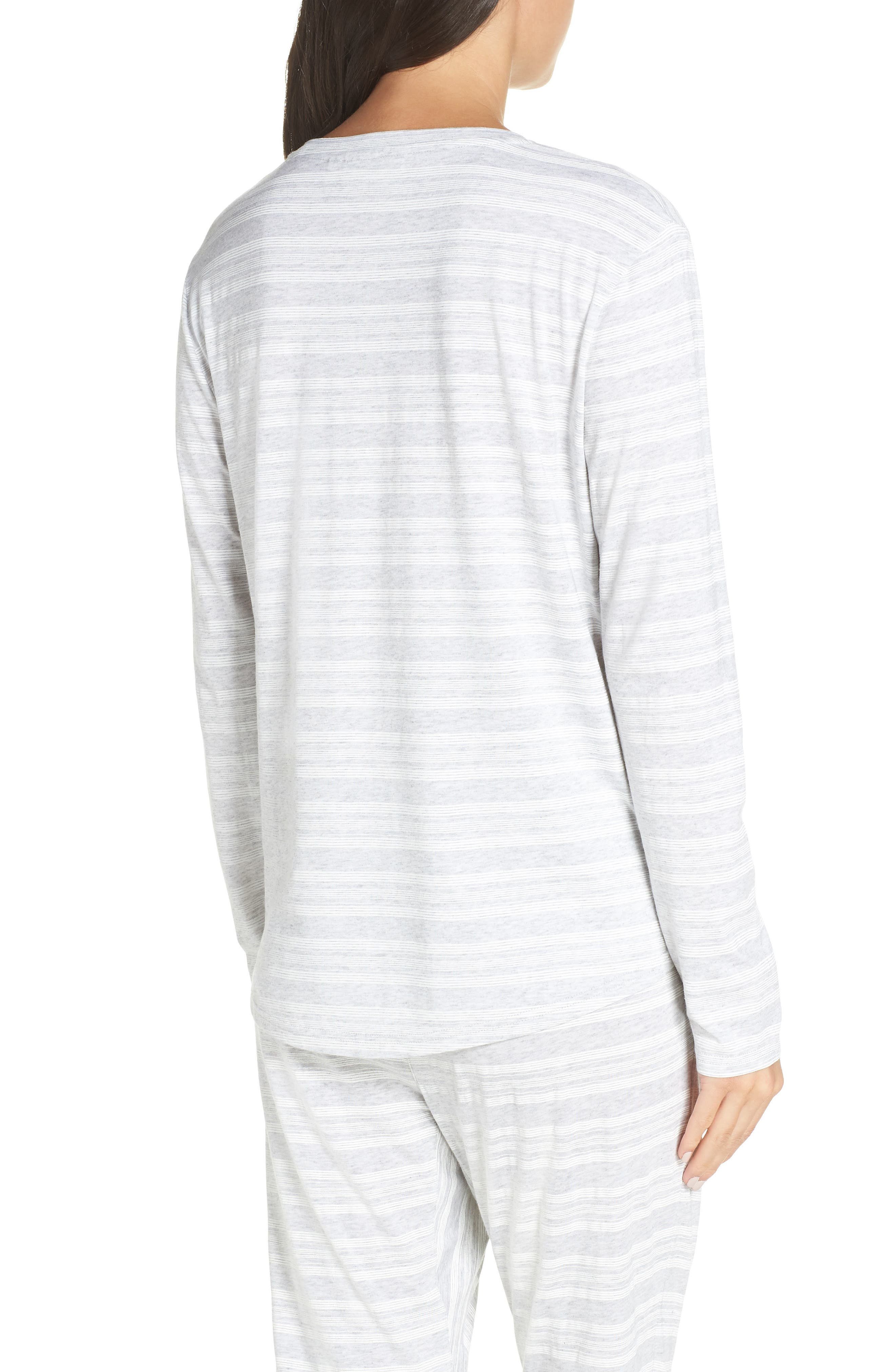 CHALMERS,                             Issy Pajama Top,                             Alternate thumbnail 2, color,                             LOLLY STRIPE WHITE