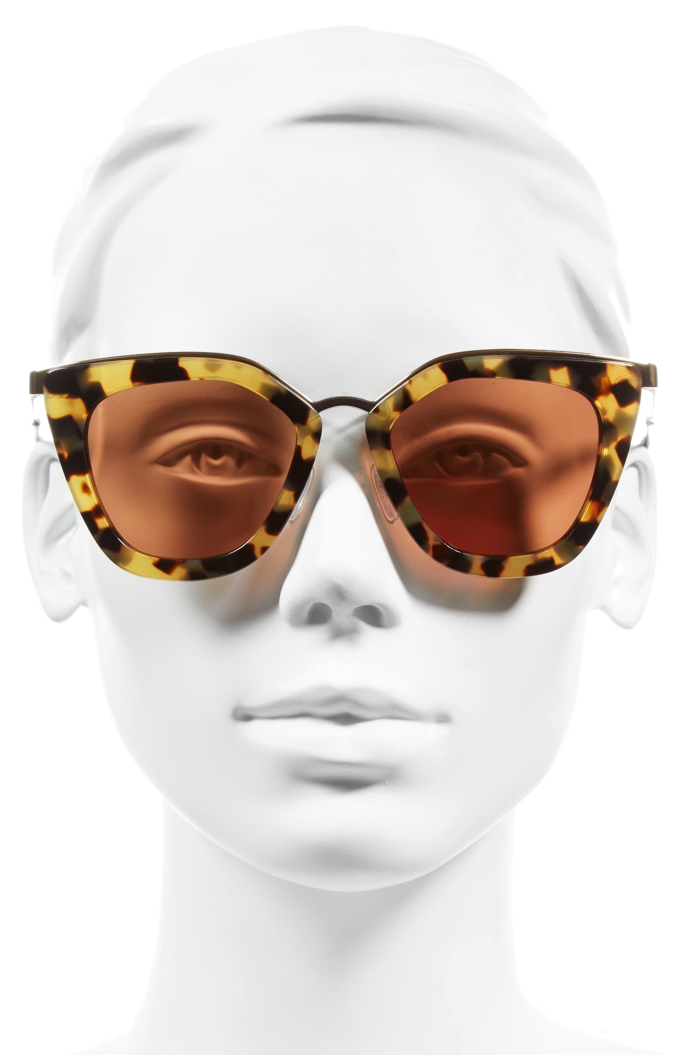 52mm Layered Frame Sunglasses,                             Alternate thumbnail 4, color,