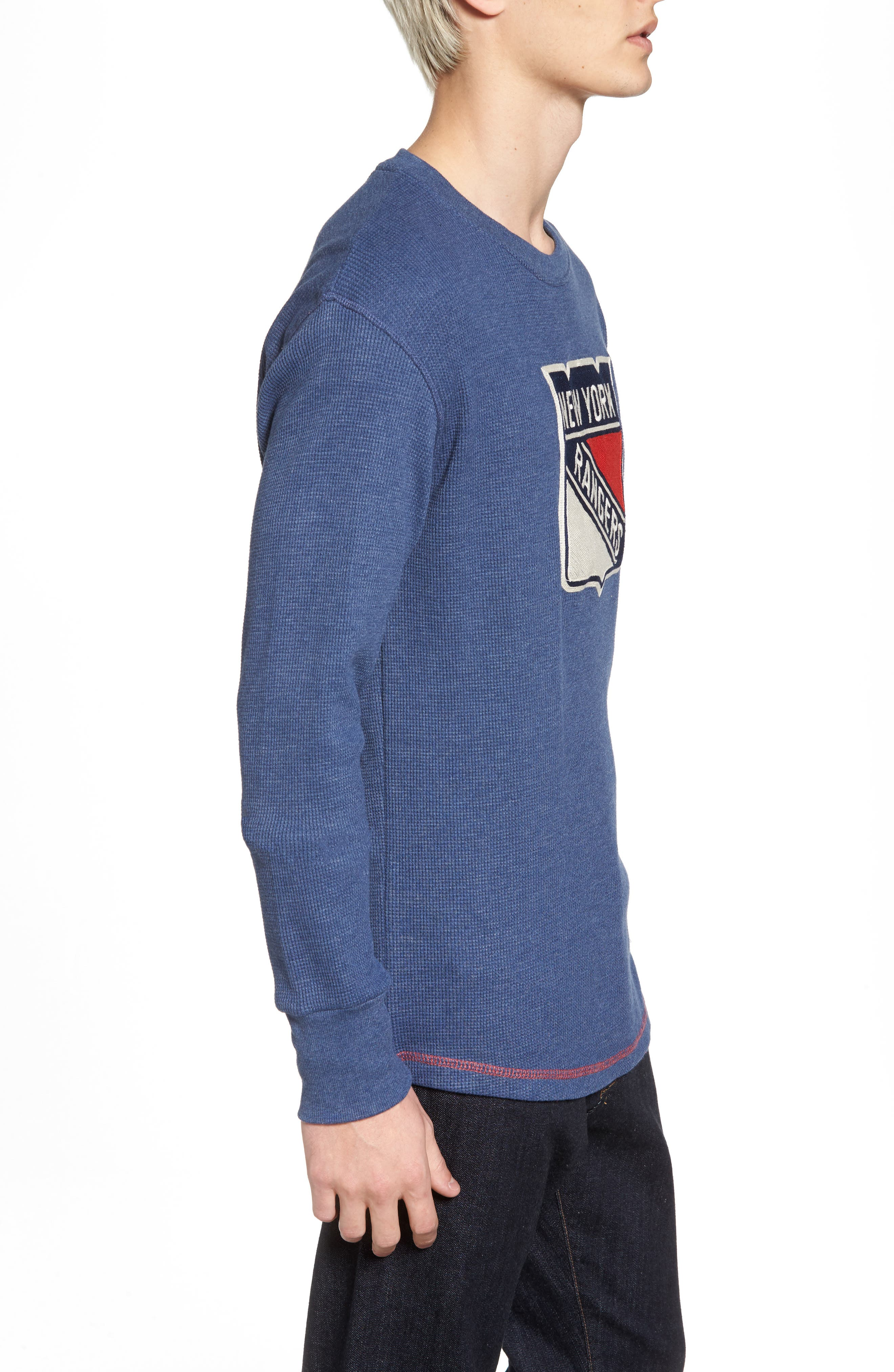 New York Rangers Embroidered Long Sleeve Thermal Shirt,                             Alternate thumbnail 3, color,                             410