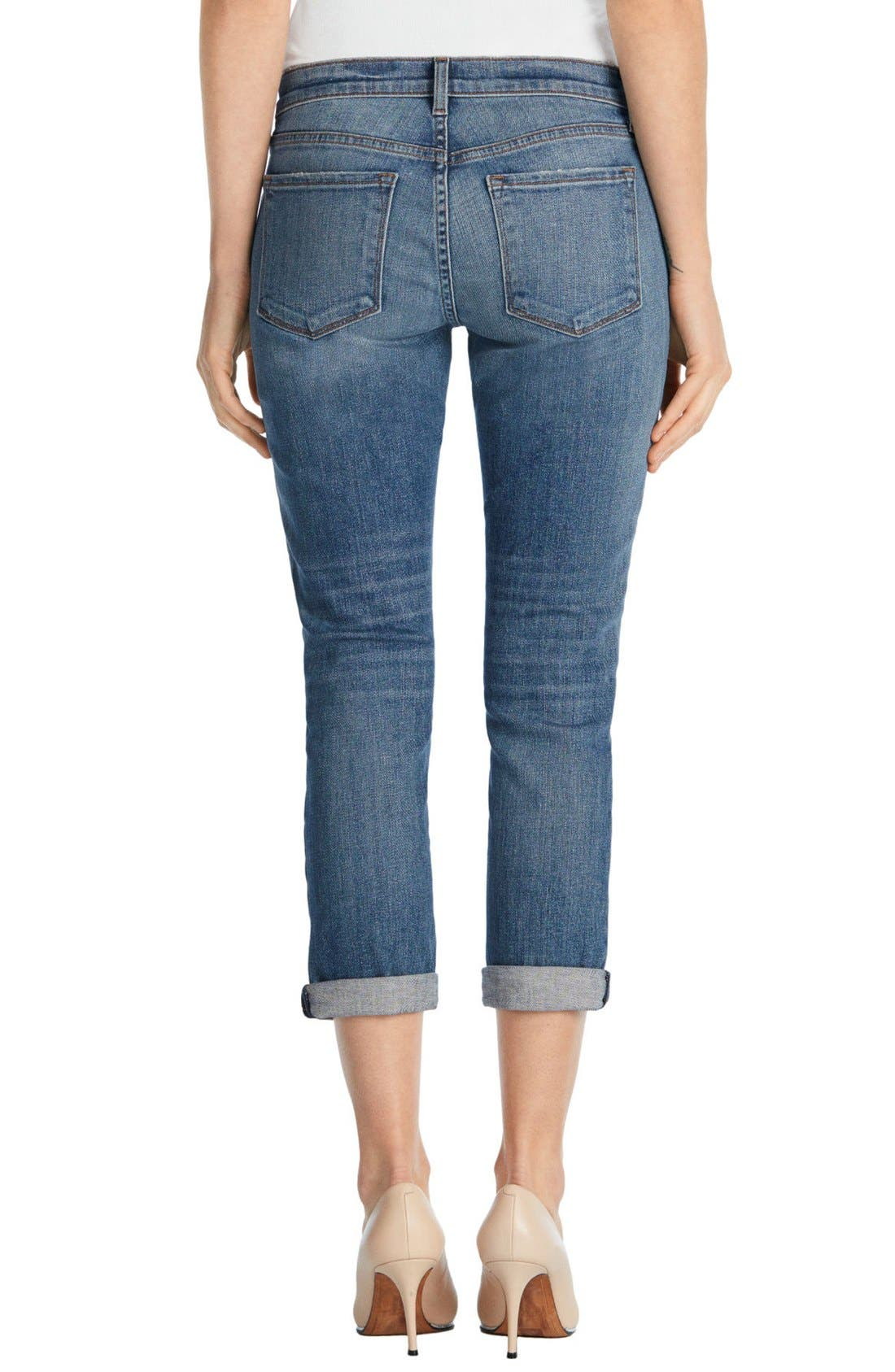 'Sadey' Slim Straight Crop Jeans,                             Alternate thumbnail 6, color,