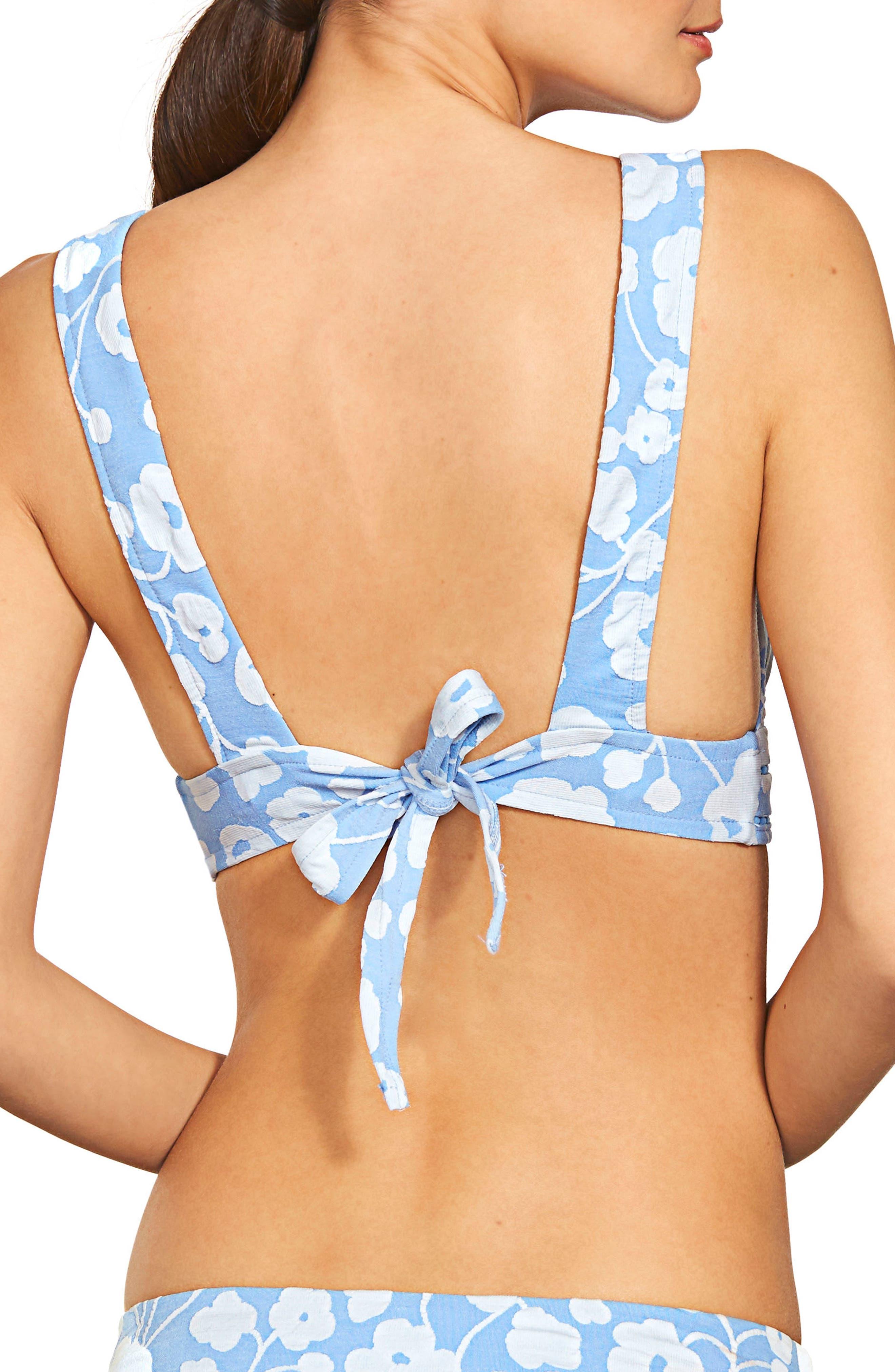 Sadie Floral Bikini Top,                             Alternate thumbnail 2, color,                             462
