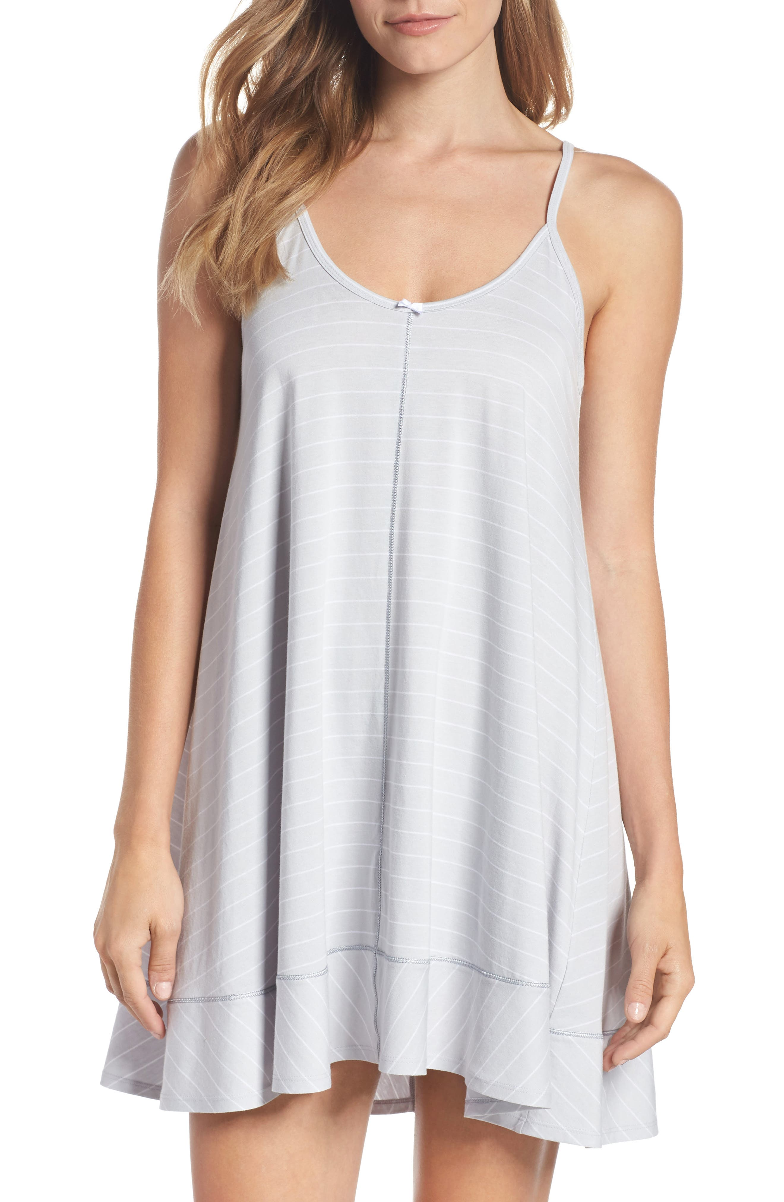 Swing Chemise,                         Main,                         color, MICROCHIP GRAY STRIPE