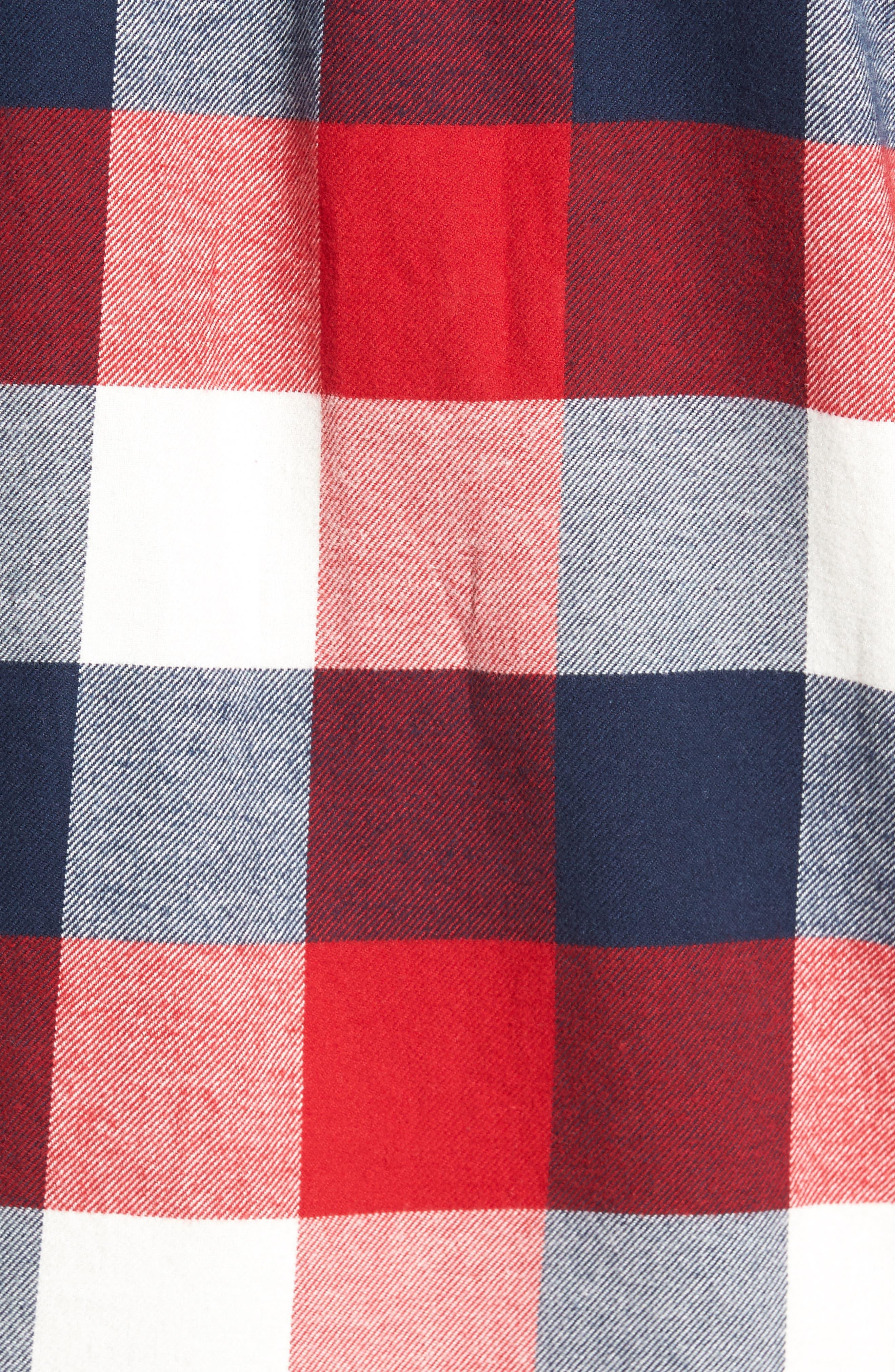Trim Fit Check Flannel Woven Shirt,                             Alternate thumbnail 22, color,