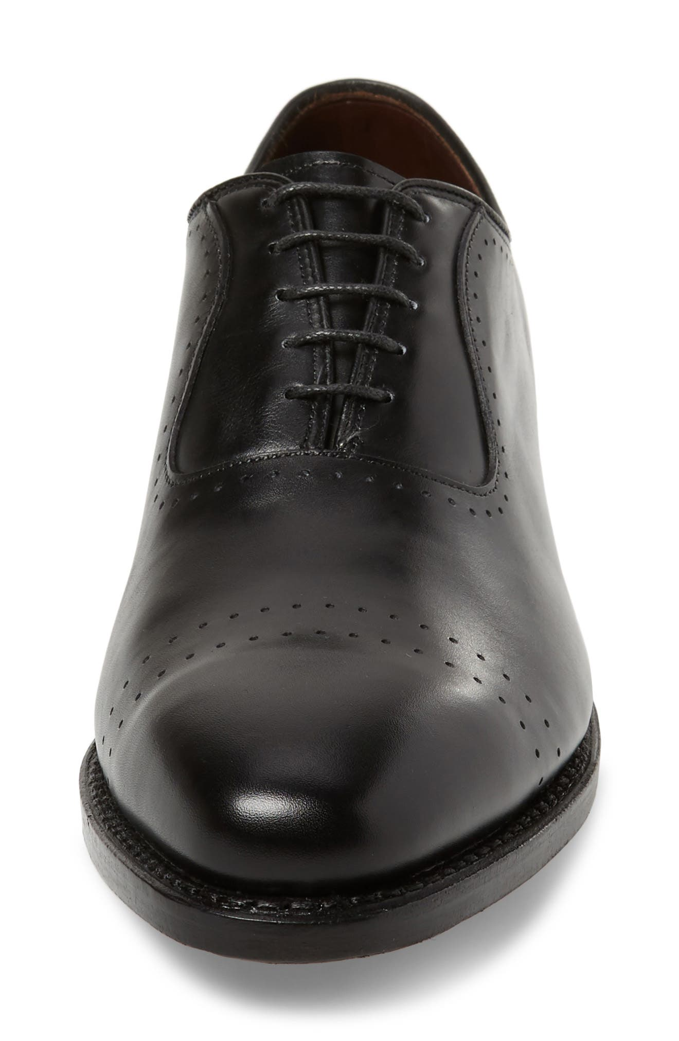 Arlington Cap Toe Oxford,                             Alternate thumbnail 4, color,                             BLACK LEATHER