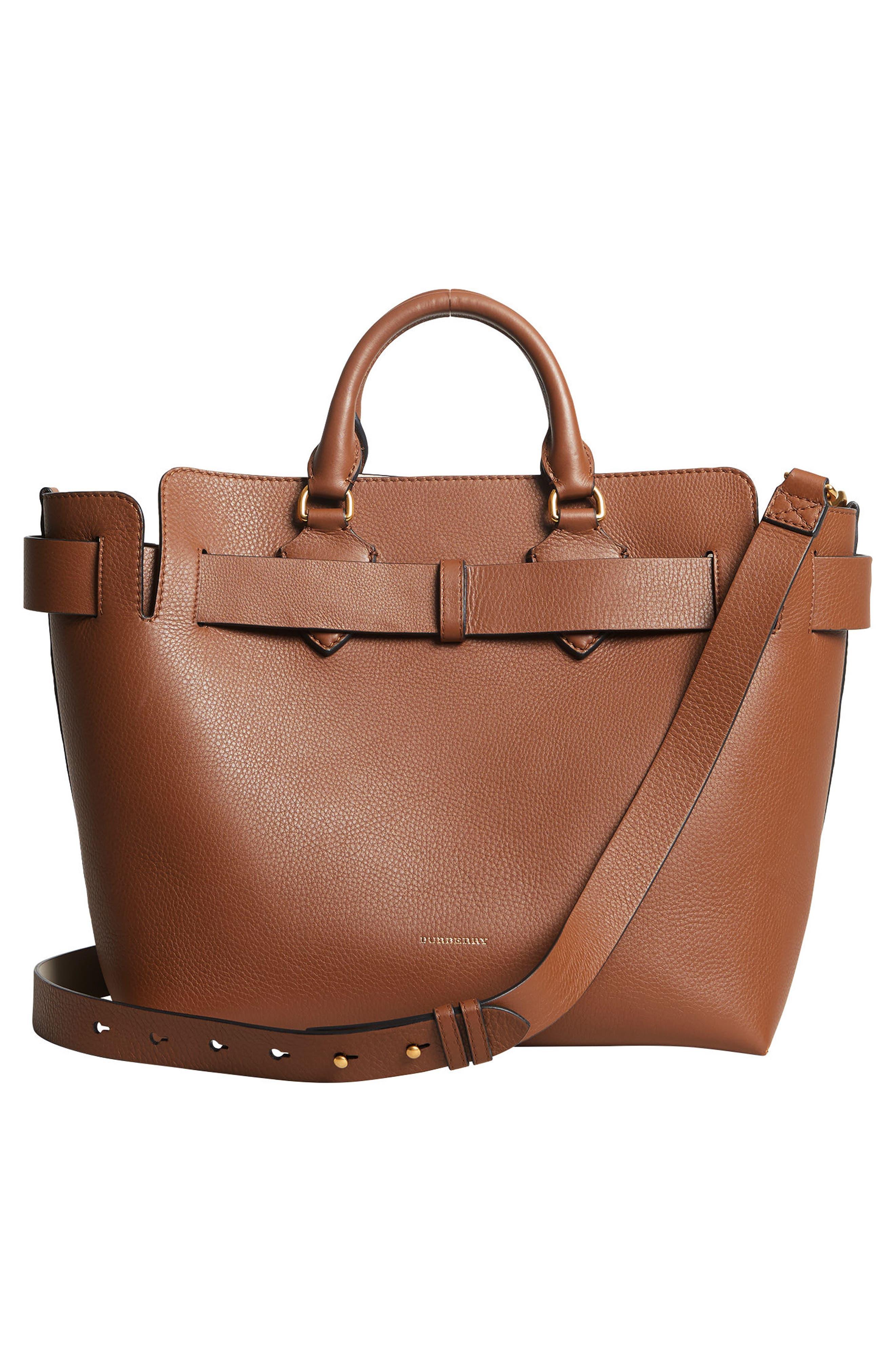 Medium Belt Bag Leather Tote,                             Alternate thumbnail 3, color,                             216