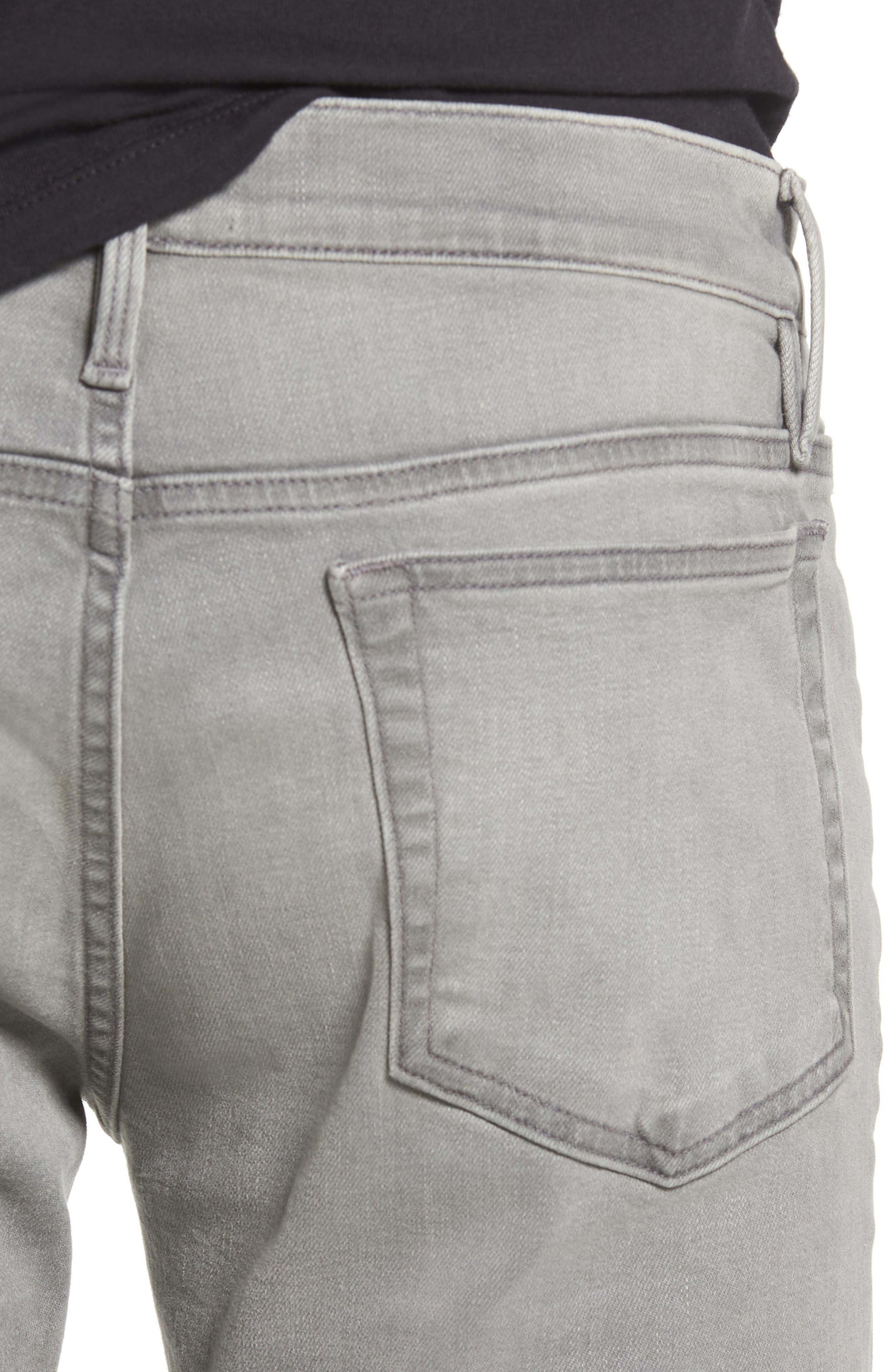 L'Homme Skinny Fit Jeans,                             Alternate thumbnail 4, color,                             030