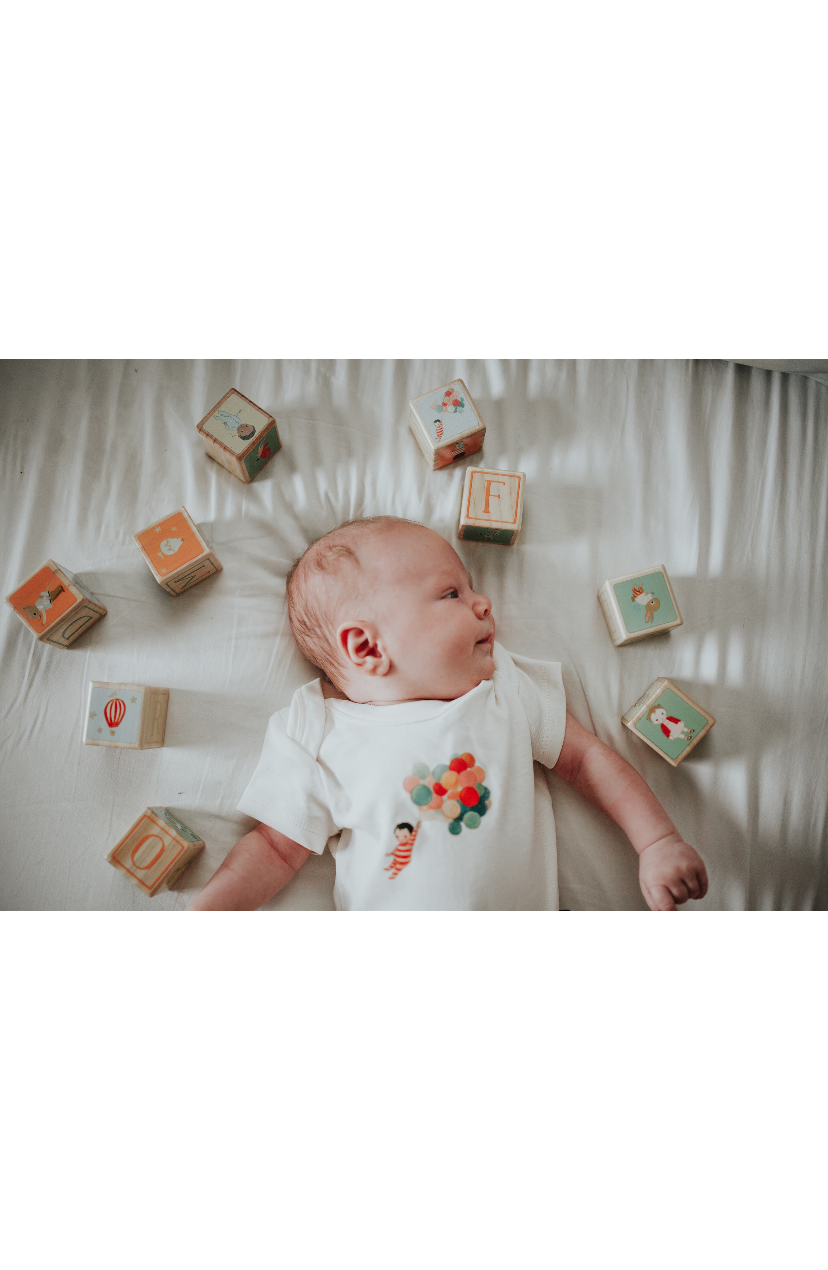 Dream World by Emily Winfield Martin Organic Cotton Footie & Wood Blocks Set,                             Alternate thumbnail 2, color,                             600
