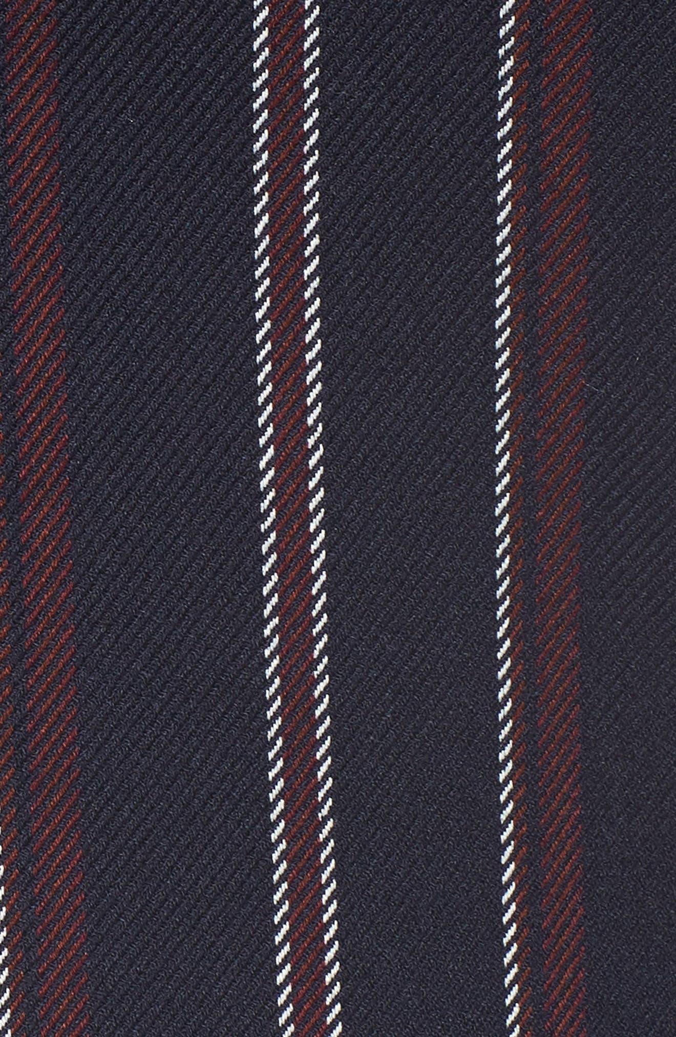 Fem Stripe Crop Blazer,                             Alternate thumbnail 7, color,                             NAVY JAMIE STRIPE