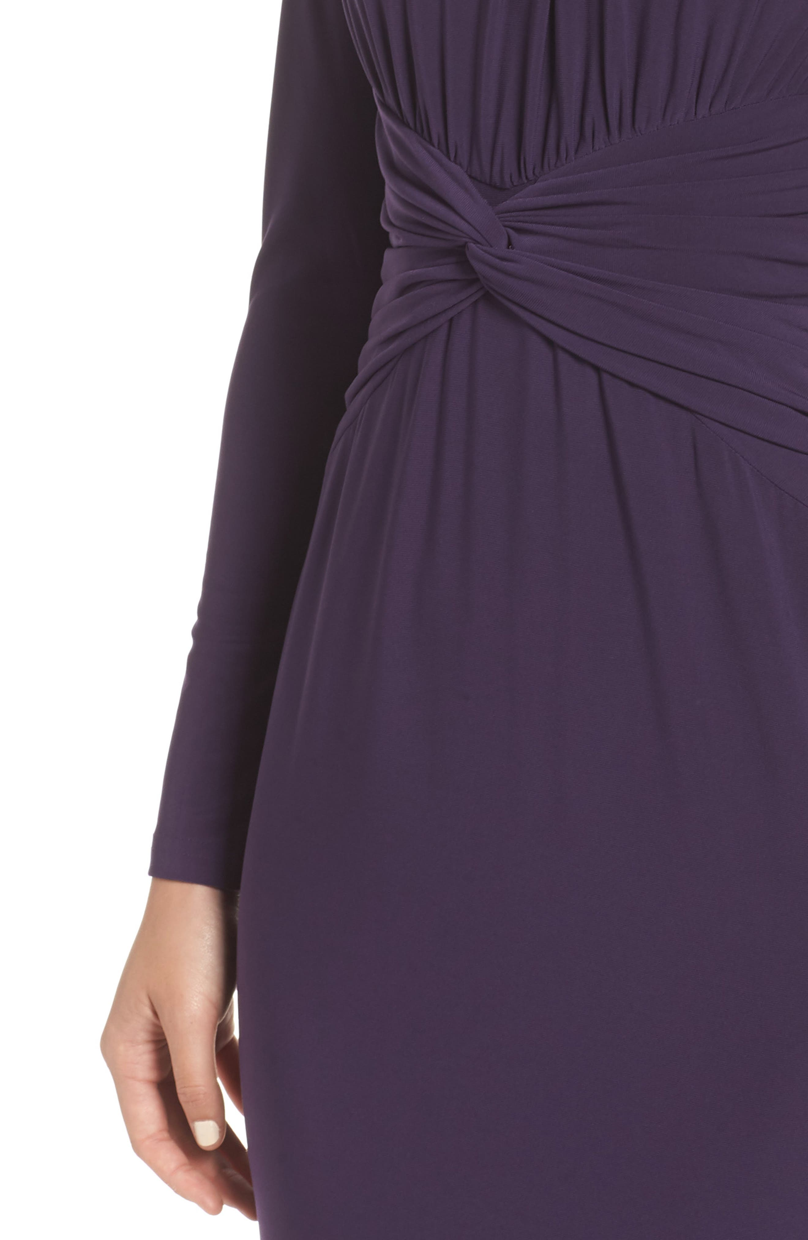 ADRIANNA PAPELL,                             Twist Waist Knit Dress,                             Alternate thumbnail 4, color,                             501