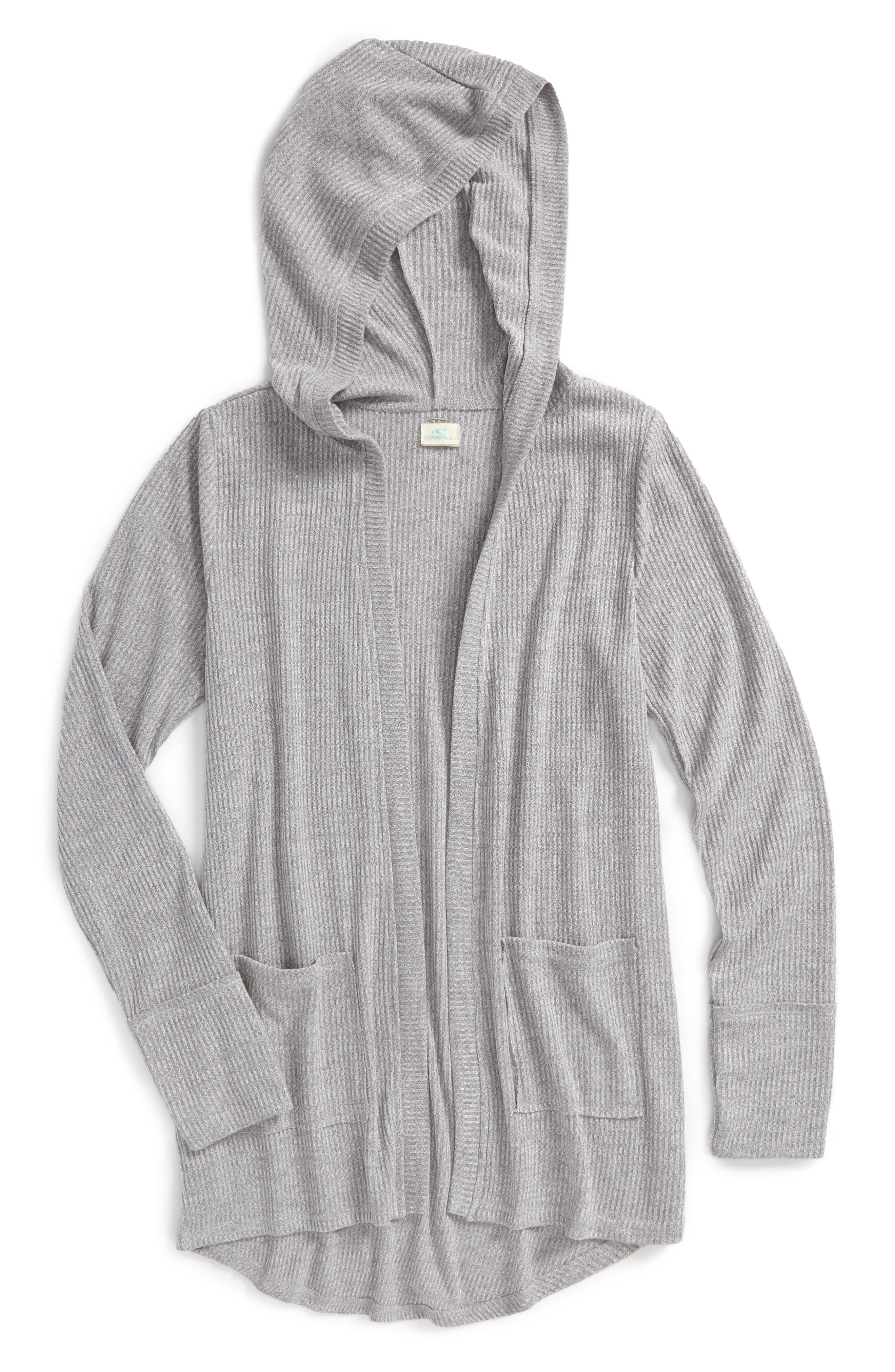 Blizzard Knit Hooded Cardigan,                         Main,                         color, 020