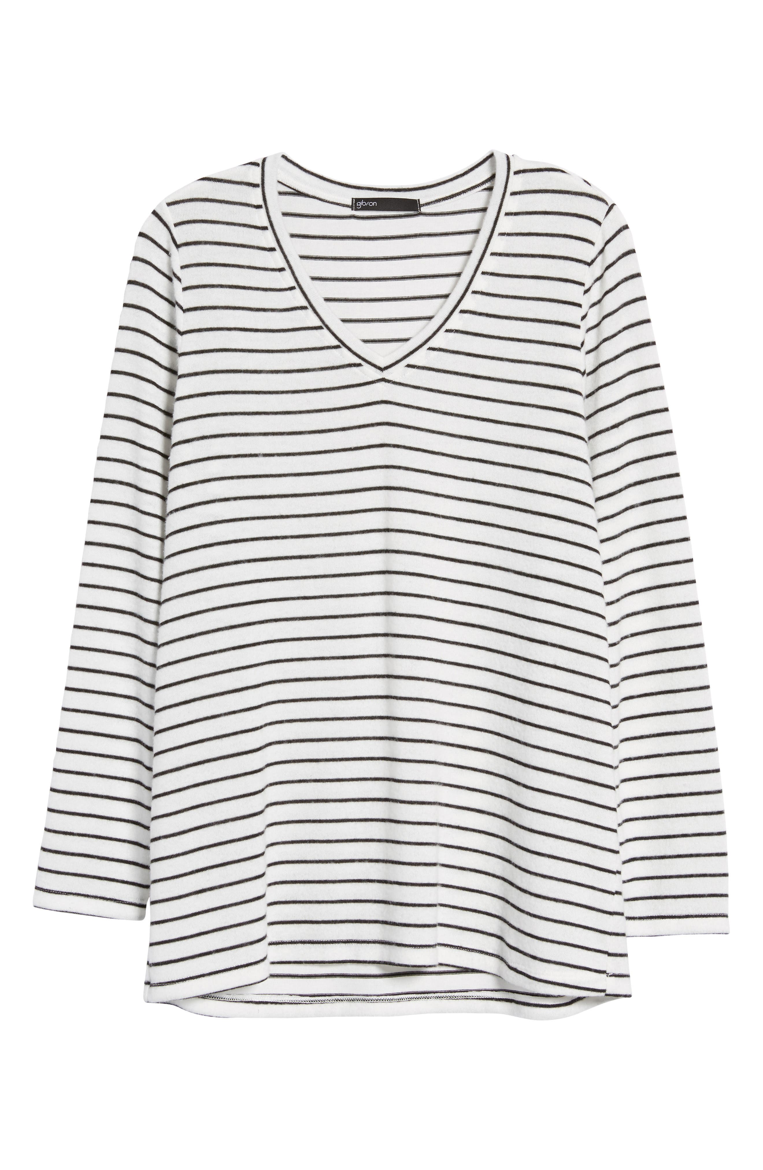 x Living in Yellow Steph Cozy Stripe Top,                             Alternate thumbnail 12, color,