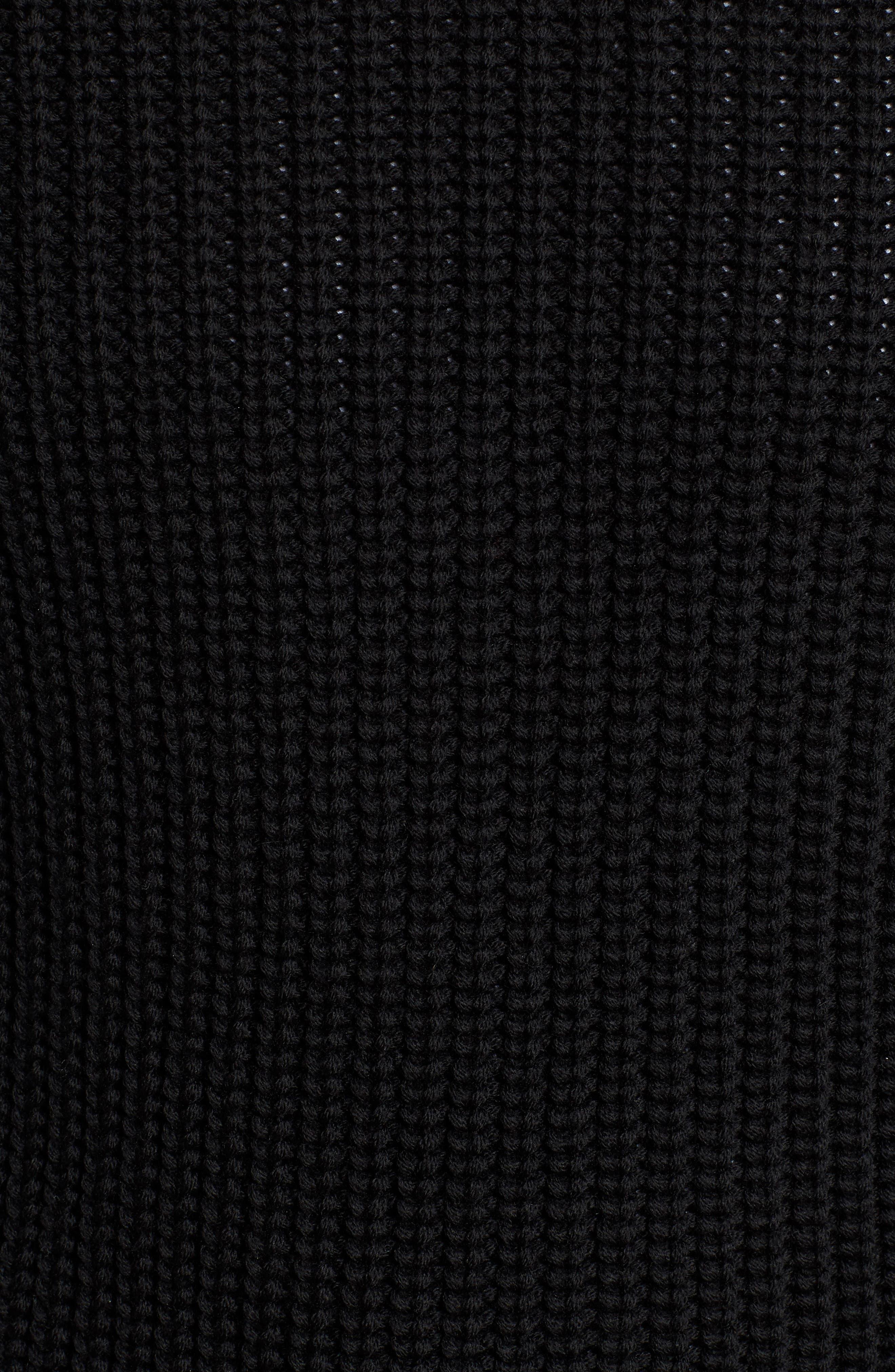 Galloway Regular Fit Merino Wool Sweater,                             Alternate thumbnail 5, color,                             BLACK