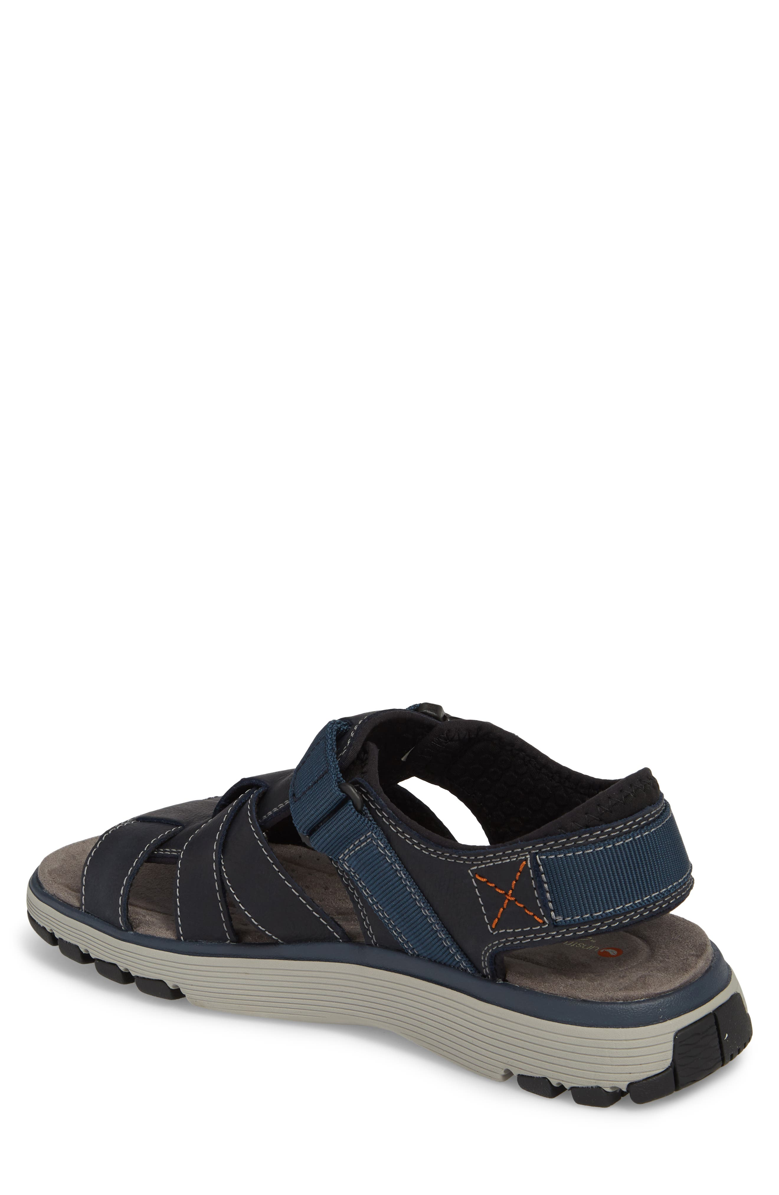 Clarks<sup>®</sup> Untrek Cove Fisherman Sandal,                             Alternate thumbnail 4, color,