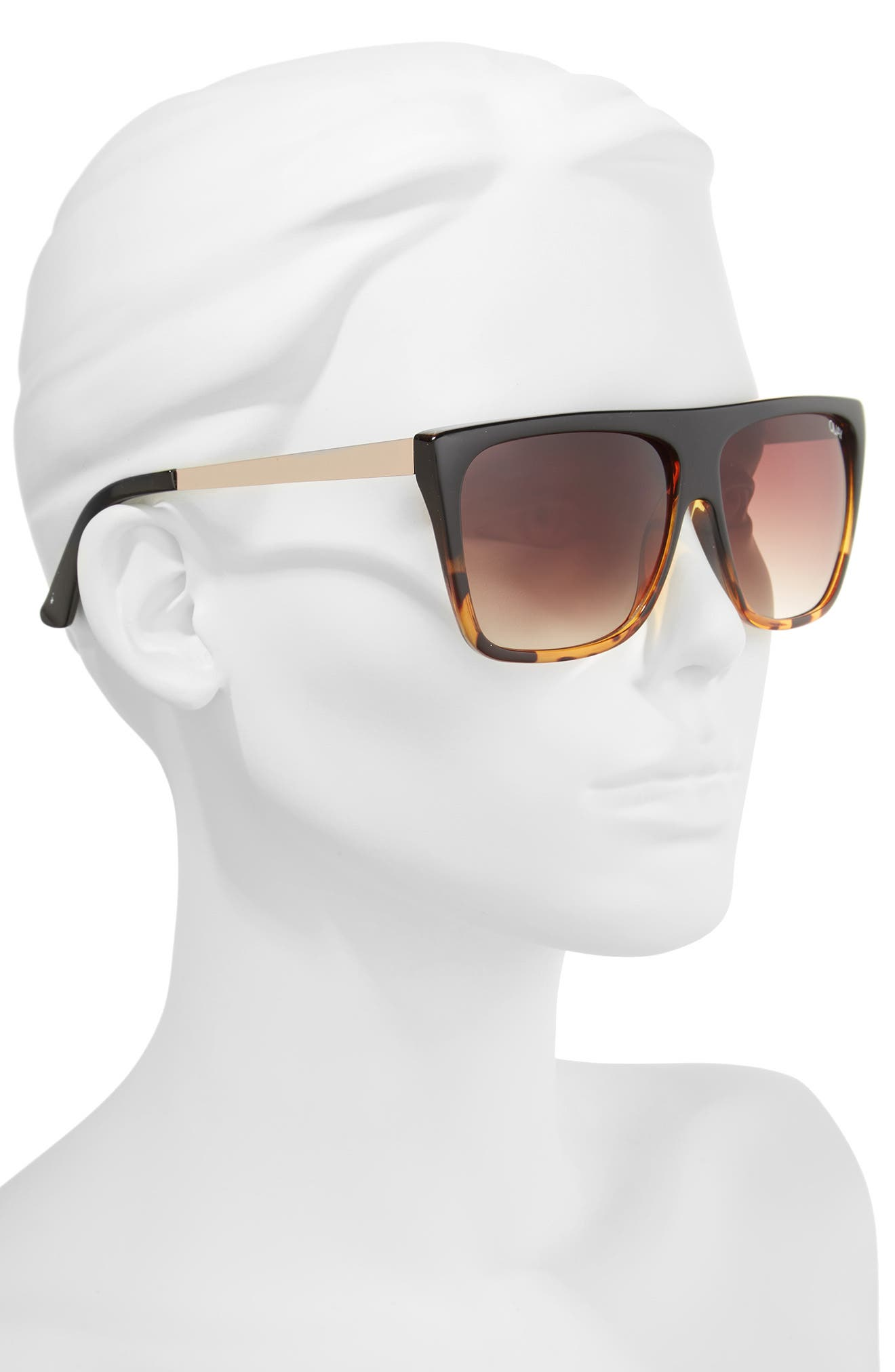 x Desi Perkins On the Low 60mm Square Sunglasses,                             Alternate thumbnail 2, color,                             TORT/ BROWN