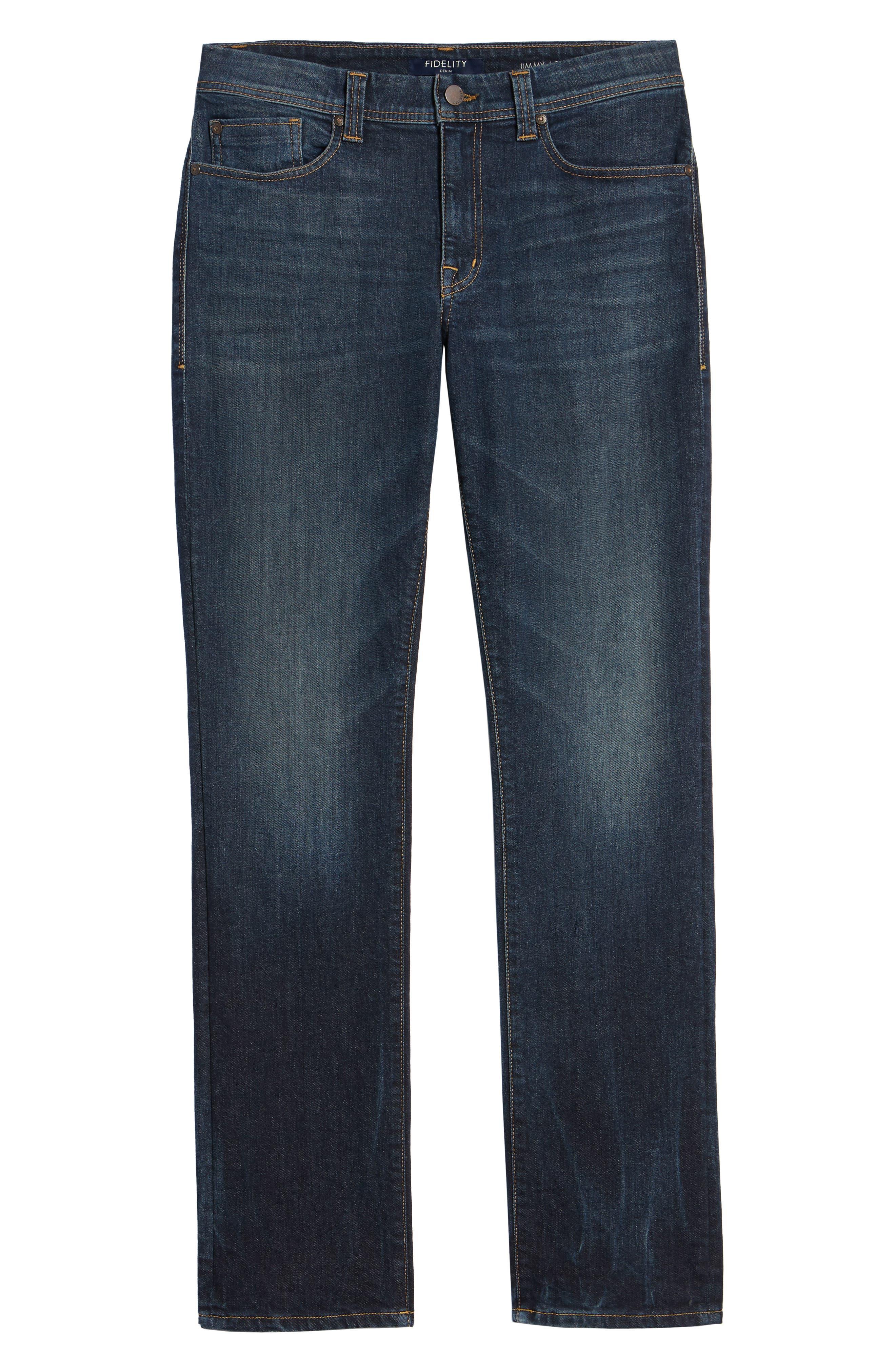 Jimmy Slim Straight Leg Jeans,                             Alternate thumbnail 6, color,                             NIAGARA