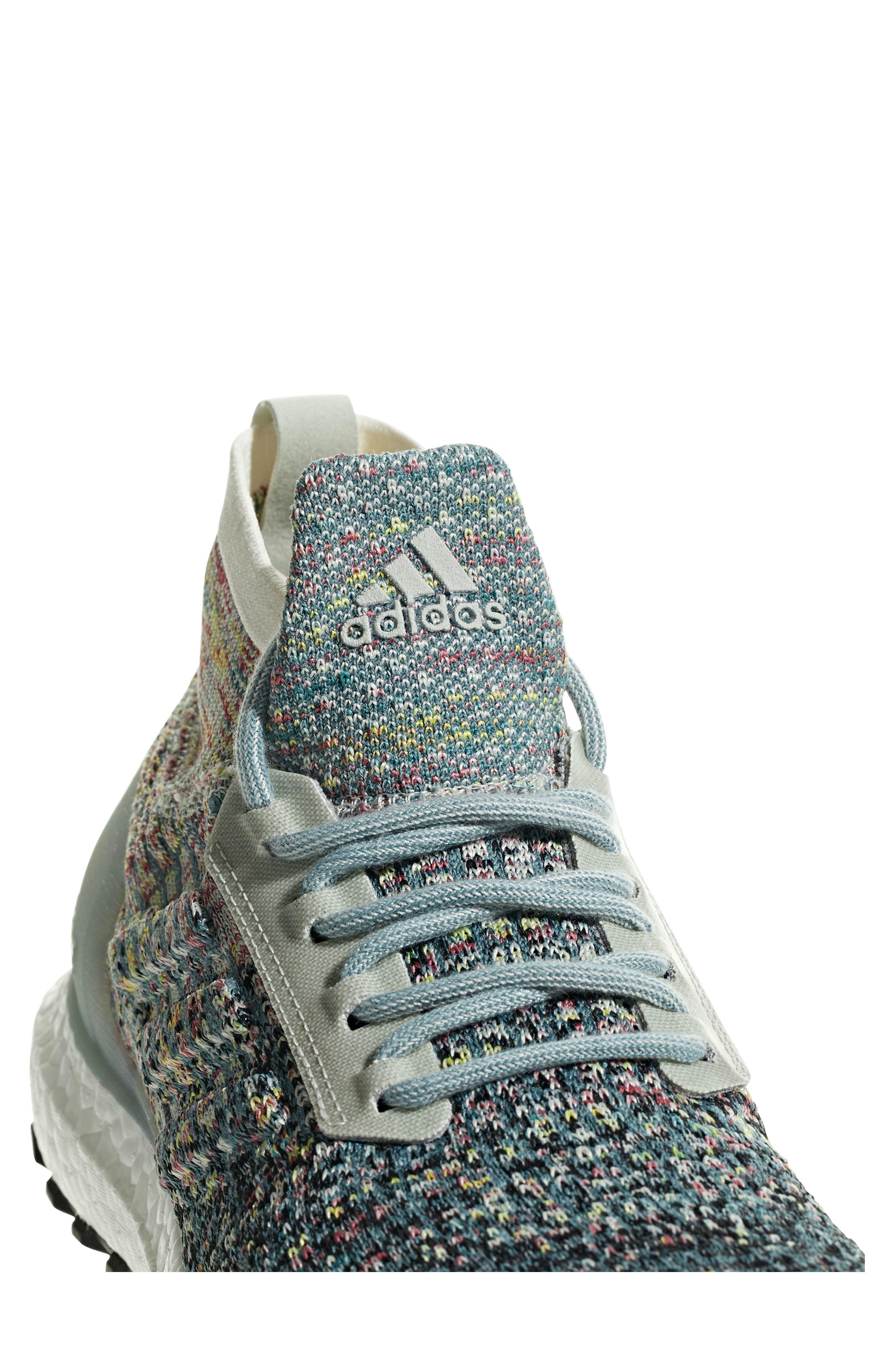 UltraBoost All Terrain LTD Running Shoe,                             Alternate thumbnail 6, color,                             ASH SILVER/ CARBON/ BLACK