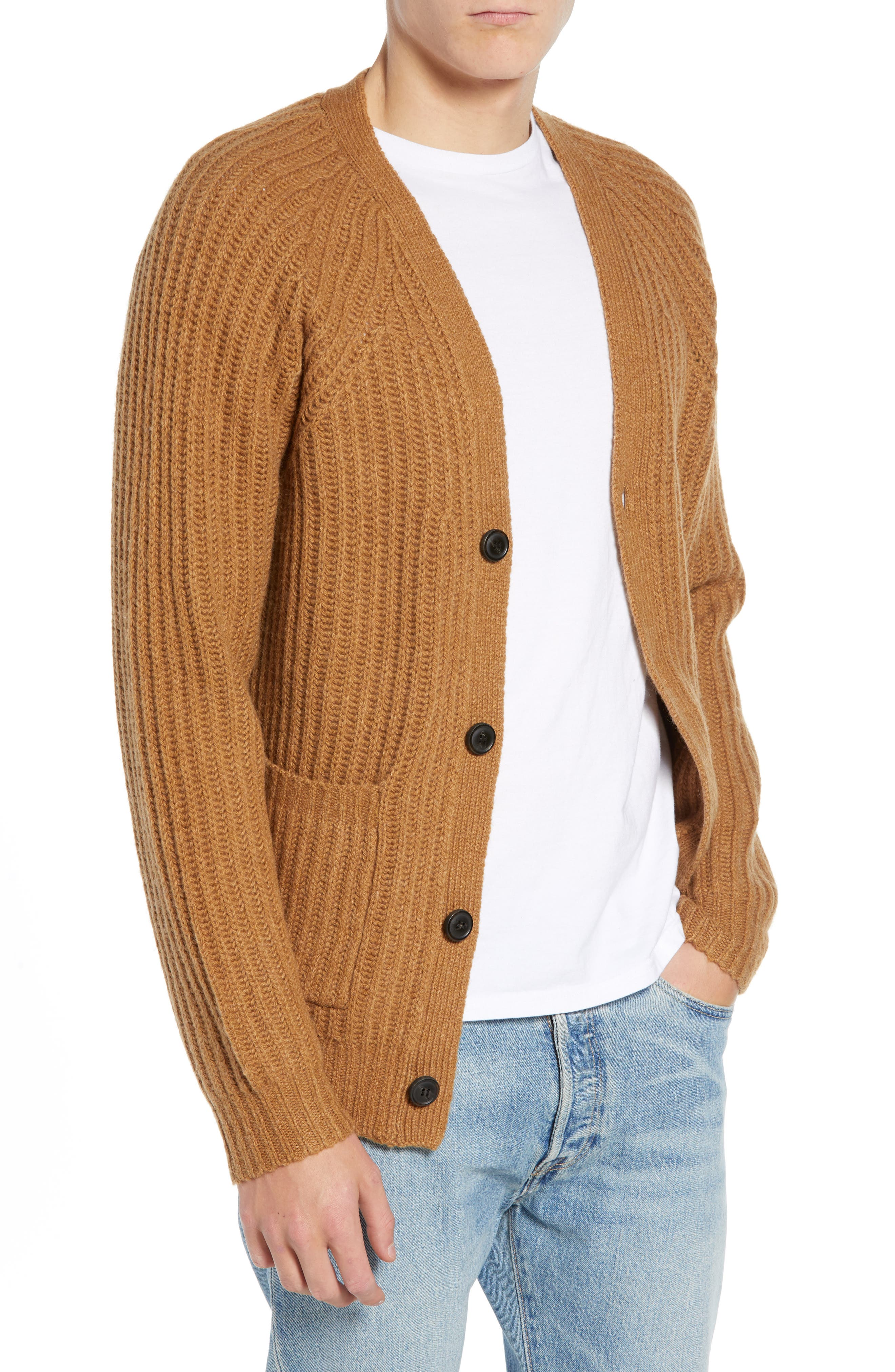 Supersoft Wool Blend Cardigan,                             Main thumbnail 1, color,                             RICH CAMEL