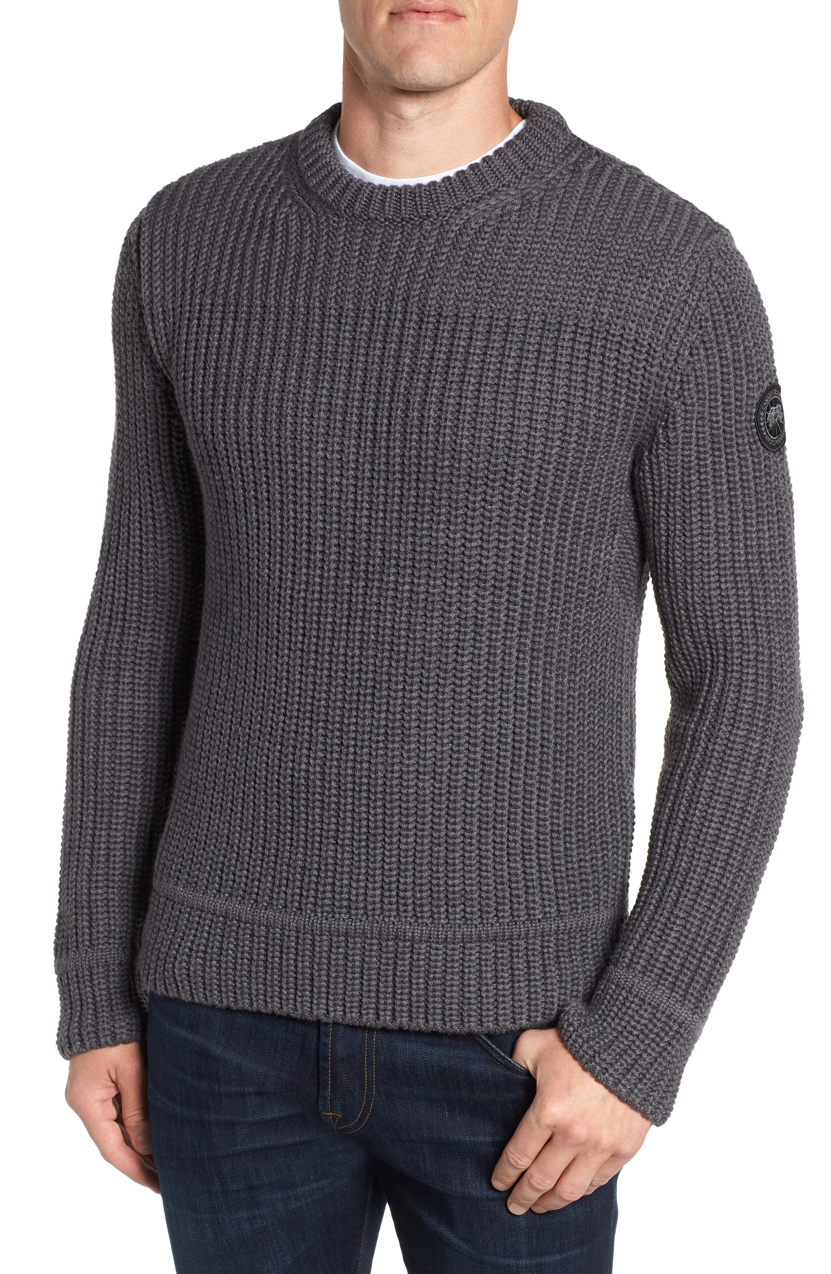 Galloway Regular Fit Merino Wool Sweater in Iron Grey