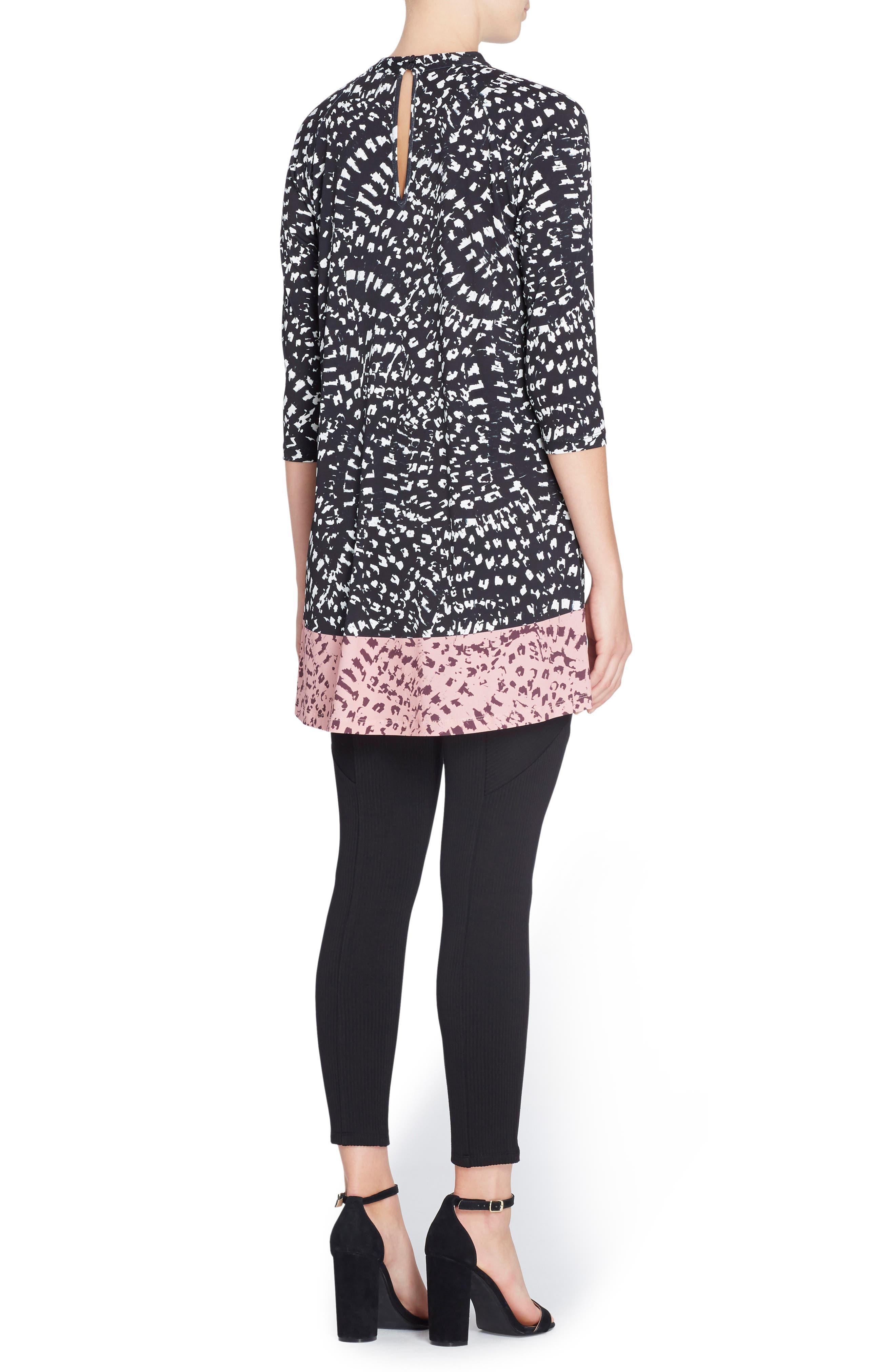 'Hayden' Mixed Print Minidress,                             Alternate thumbnail 2, color,                             011