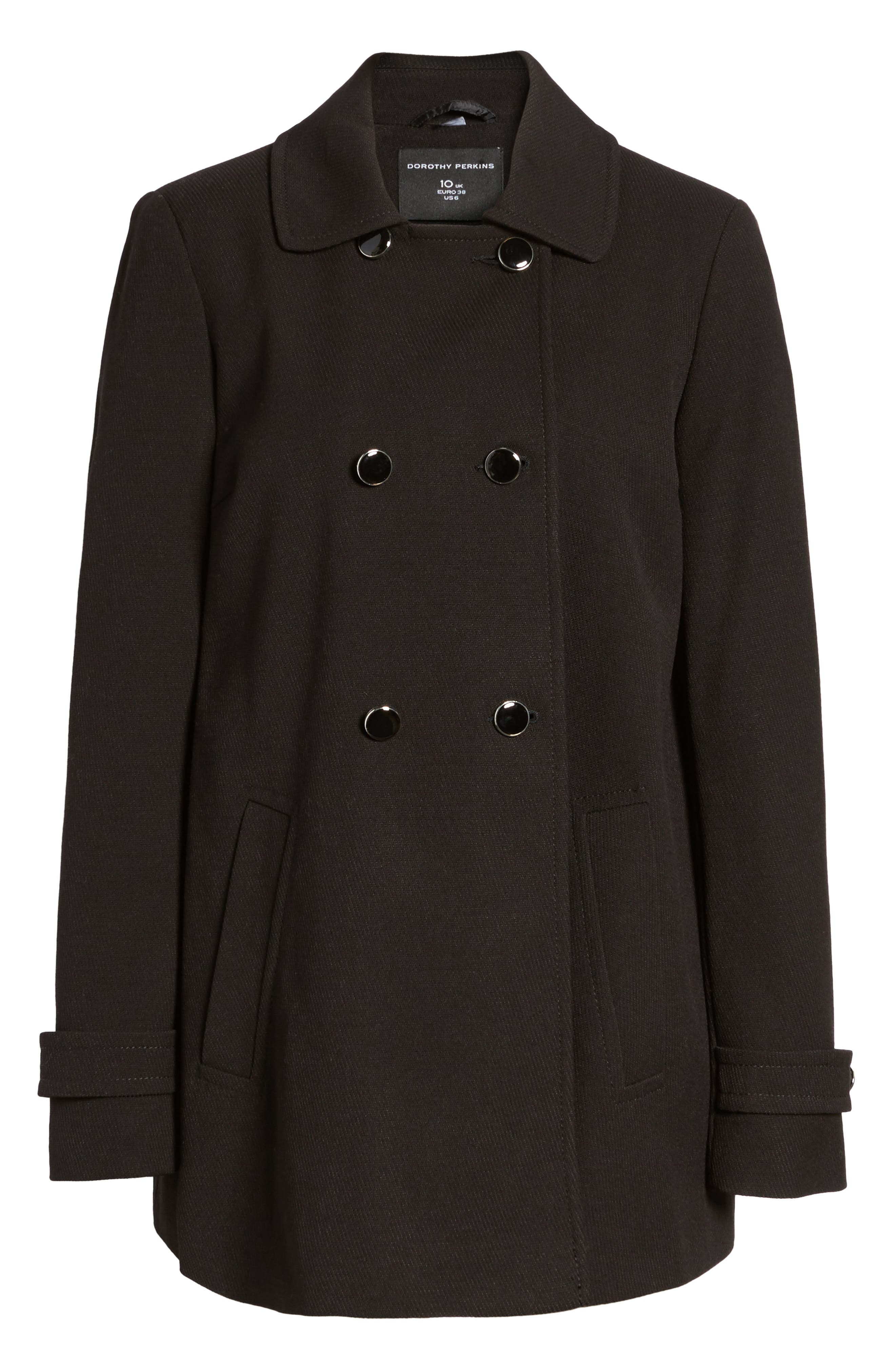 Double Breasted Swing Coat,                             Alternate thumbnail 5, color,