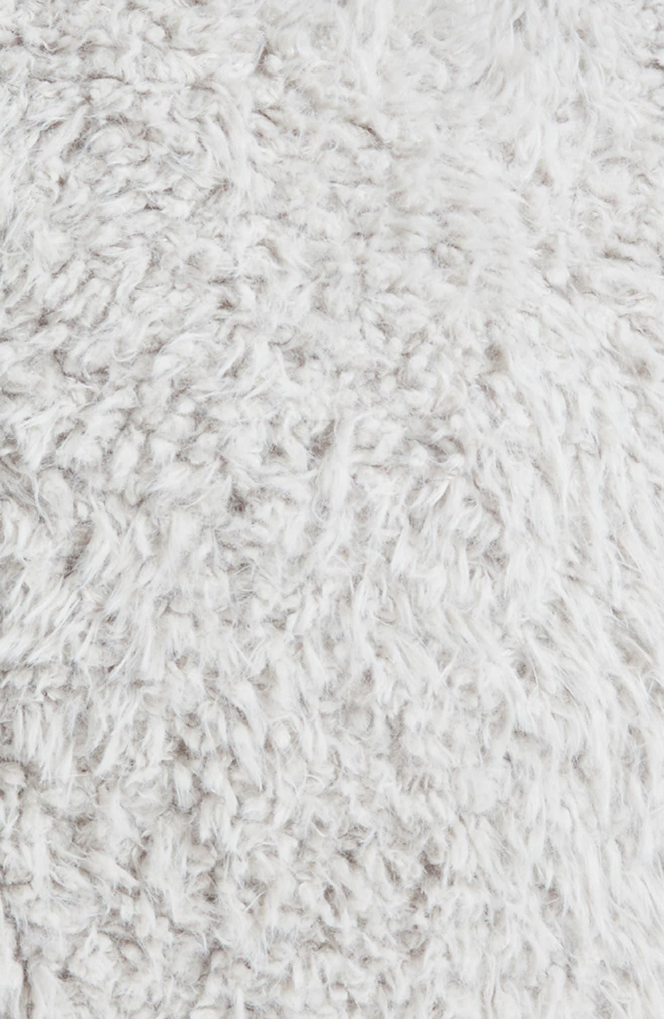 Shaggy Faux Fur Backrest Pillow,                             Alternate thumbnail 3, color,                             020